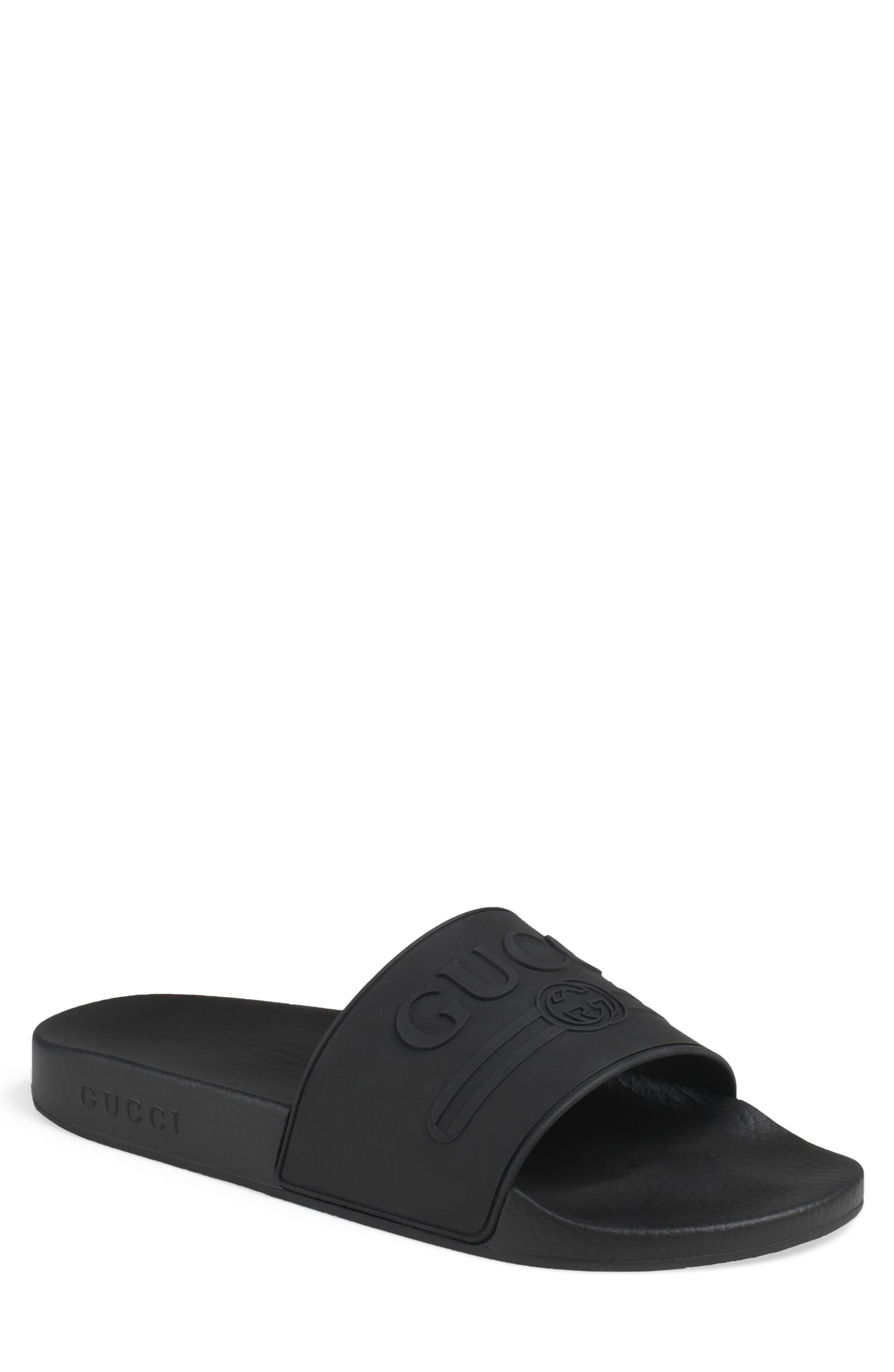 Pursuit Logo Slide Sandal,                         Main,                         color, NERO