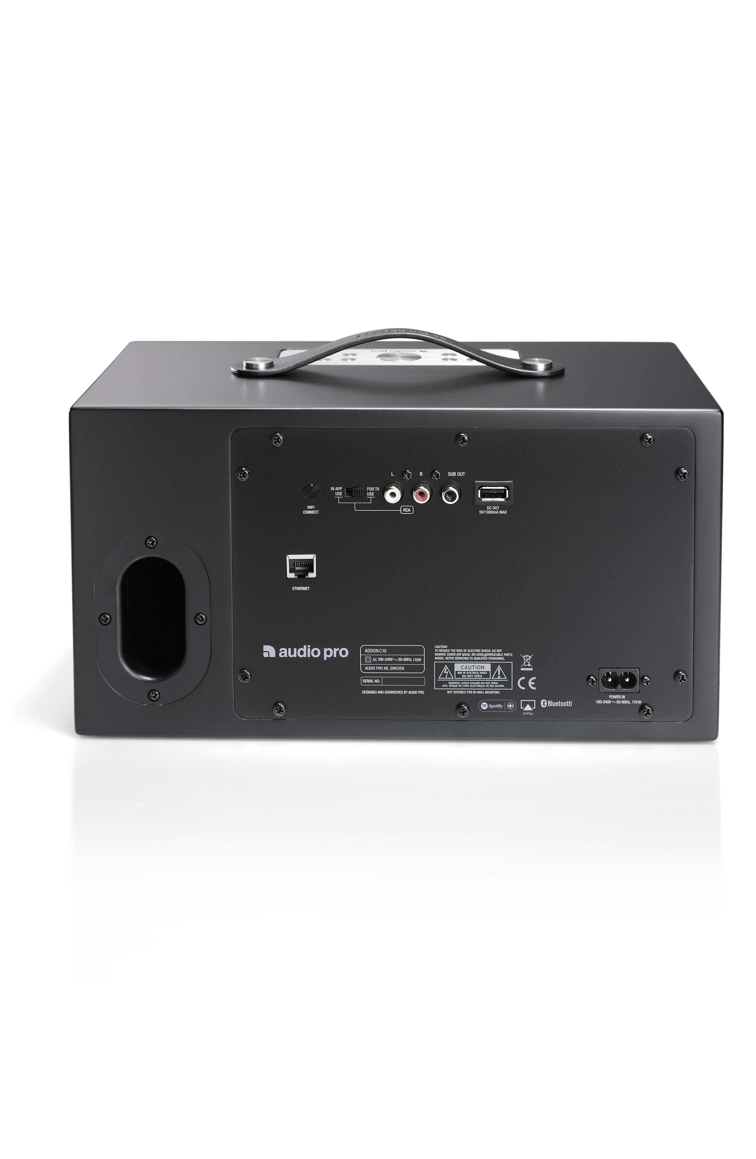 Addon C10 WiFi Multi Room Bluetooth Speaker,                             Alternate thumbnail 2, color,                             COAL BLACK
