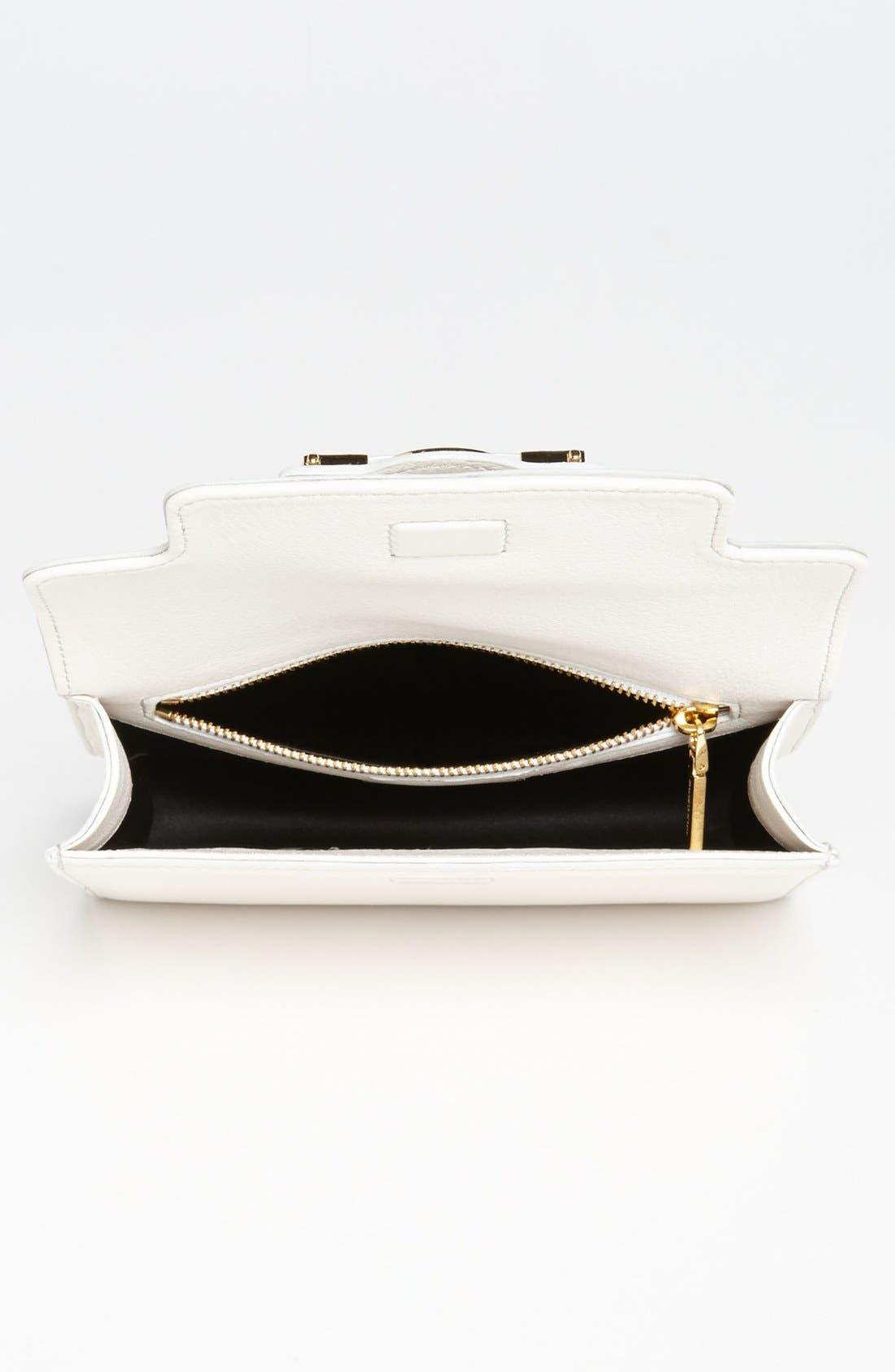 VERSACE,                             'Mini - Medusa' Leather Crossbody Bag,                             Alternate thumbnail 3, color,                             100