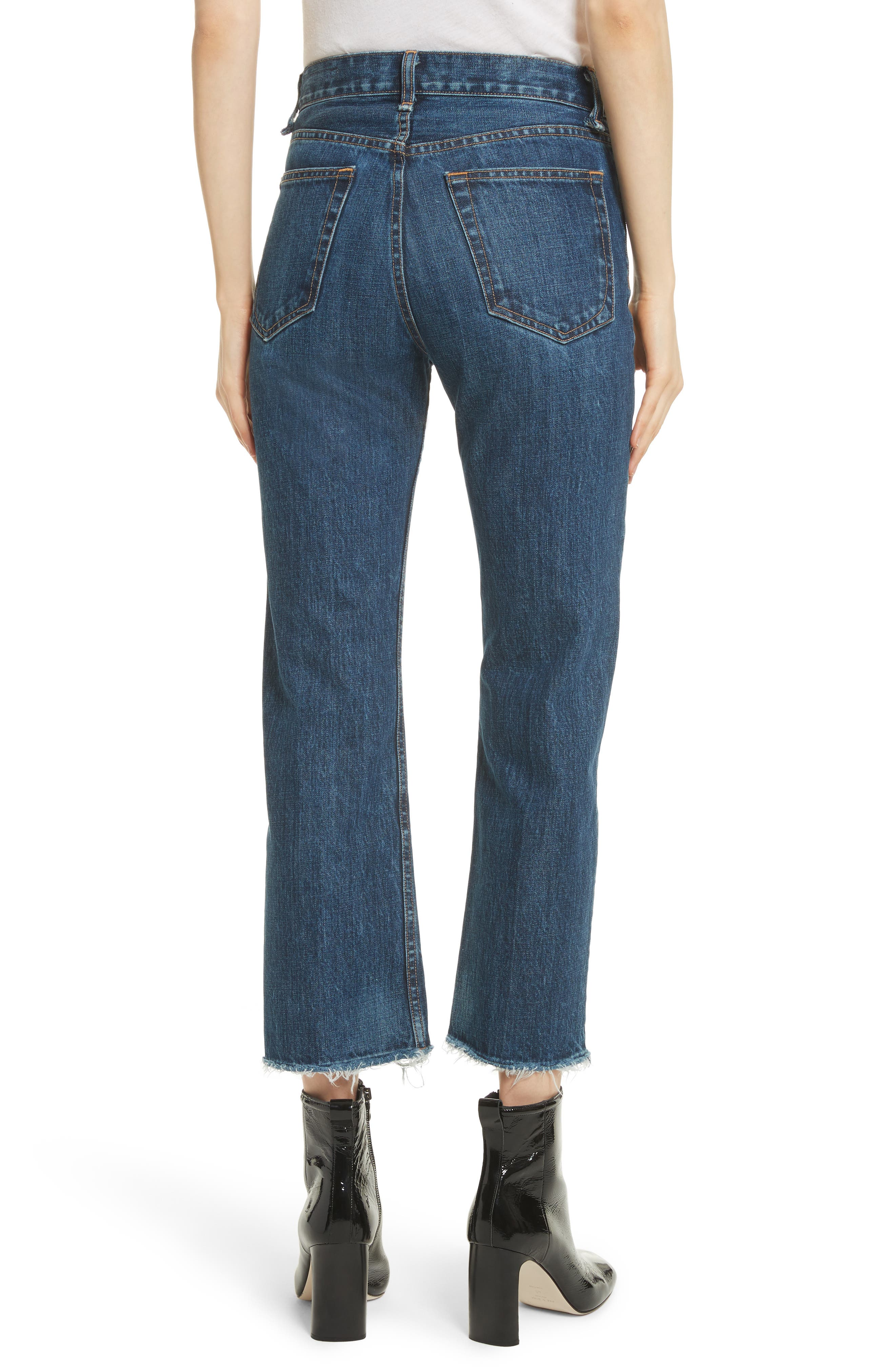 High Waist Ankle Straight Leg Jeans,                             Alternate thumbnail 2, color,                             418