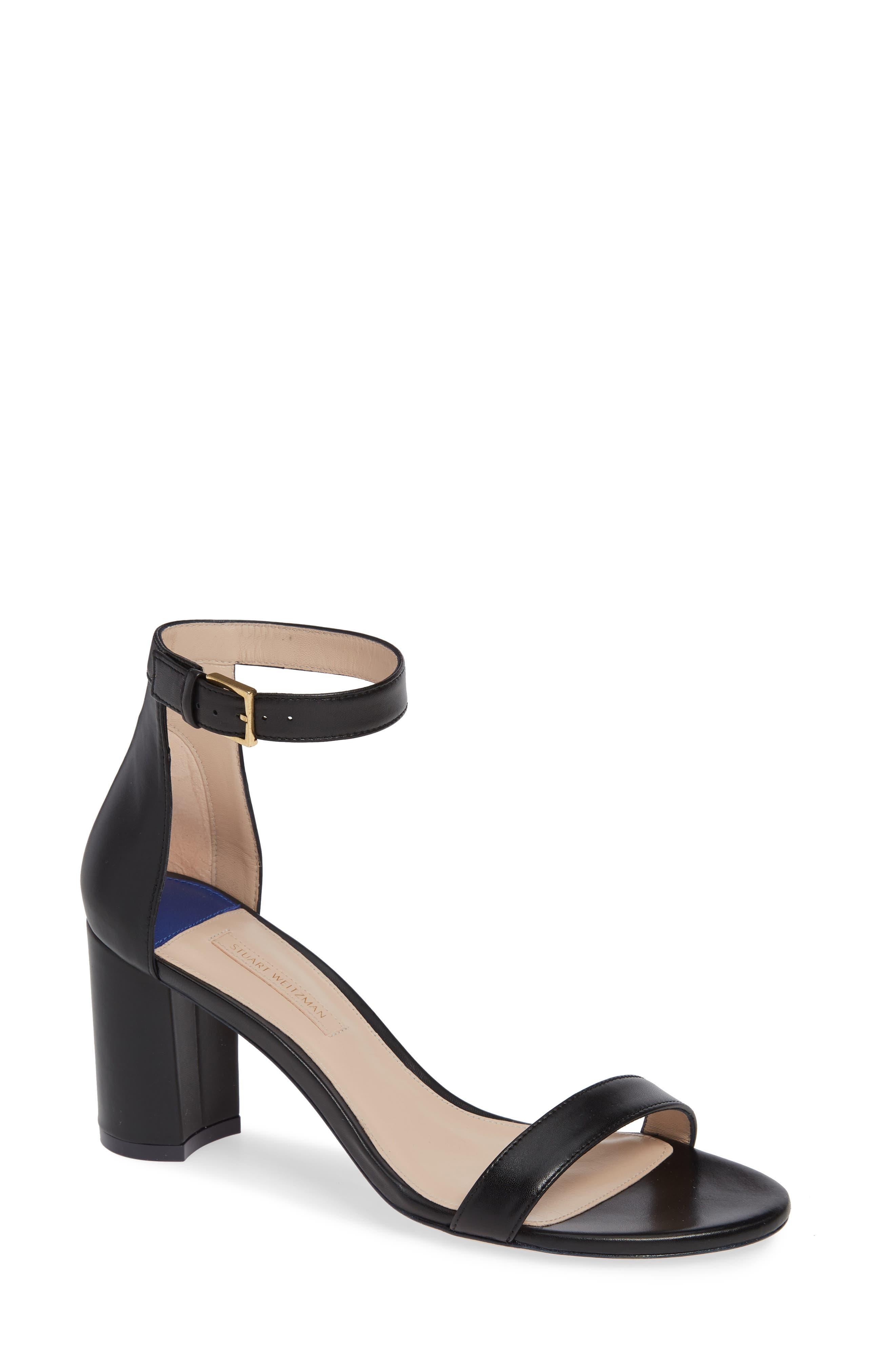75LESSNUDIST Ankle Strap Sandal,                             Main thumbnail 1, color,                             BLACK NAPPA