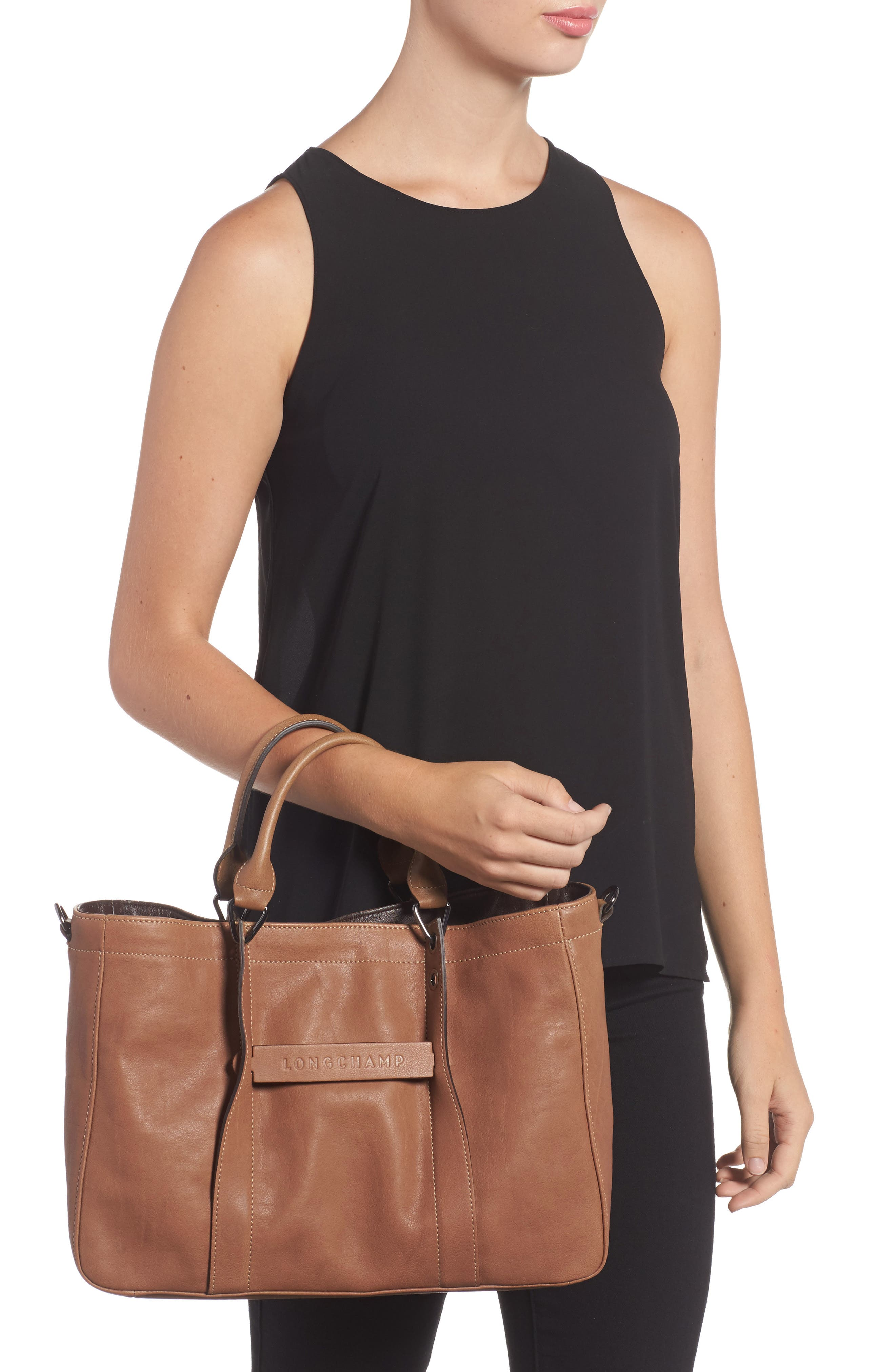 3D Leather Tote,                             Alternate thumbnail 2, color,                             250