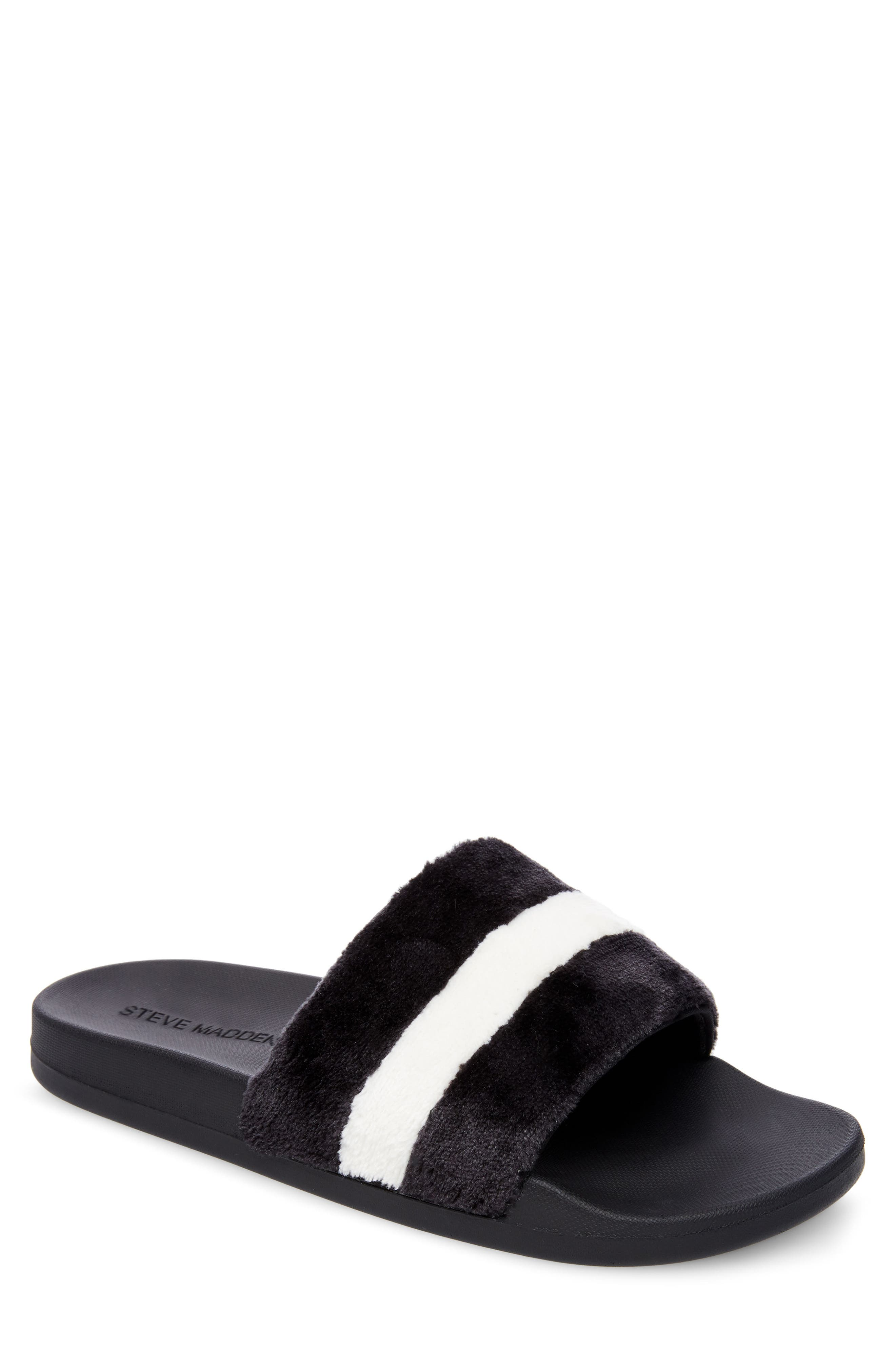 Resport Plush Slide Sandal,                             Main thumbnail 1, color,                             003