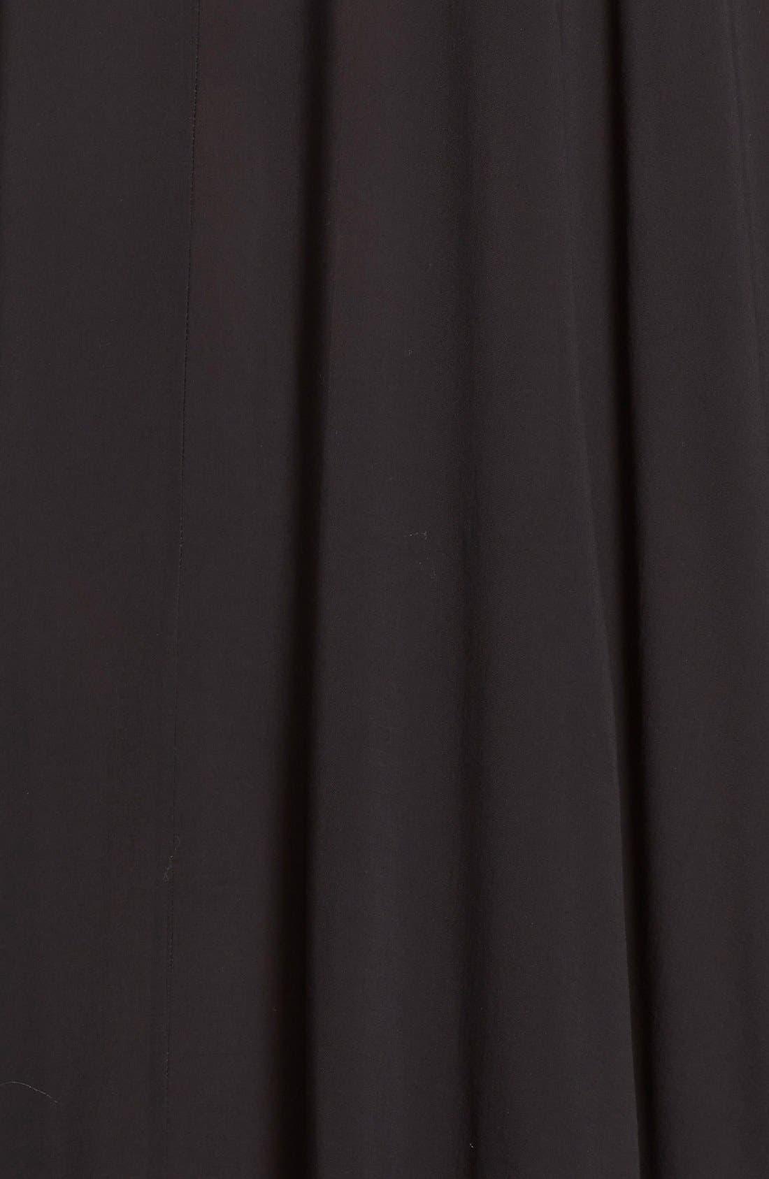 Cover-Up Maxi Dress,                             Alternate thumbnail 6, color,                             BLACK