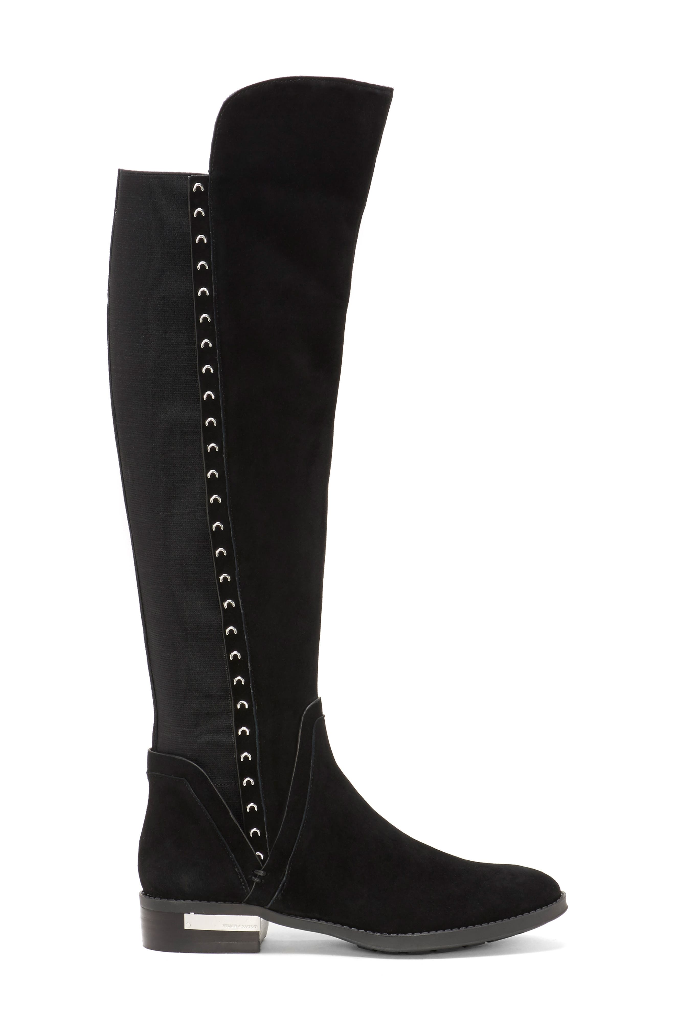 Pardonal Over-the-Knee Boot,                             Alternate thumbnail 3, color,                             BLACK SUEDE