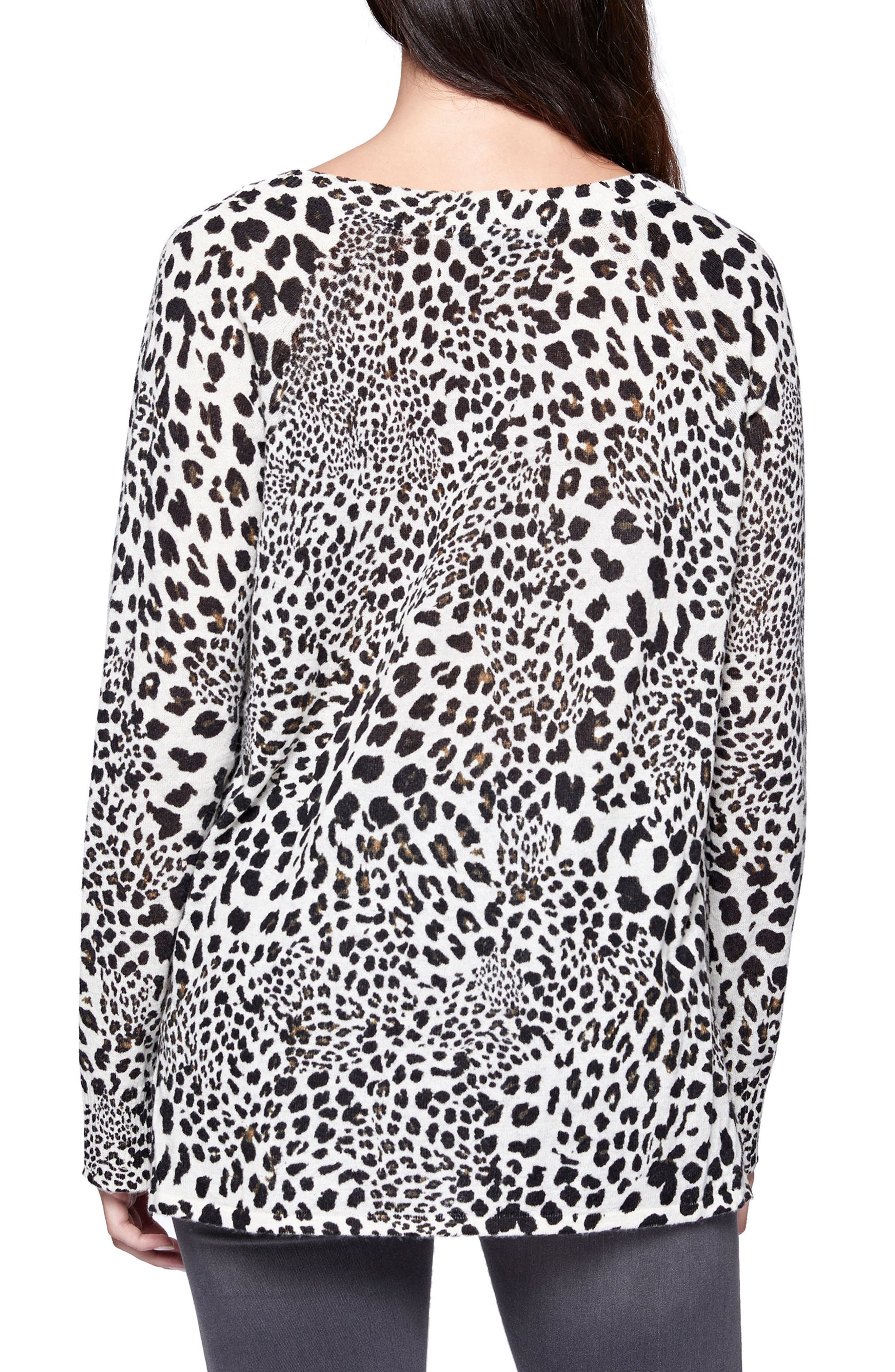 Cabaret Crew Animal Print Sweater,                             Alternate thumbnail 2, color,                             299
