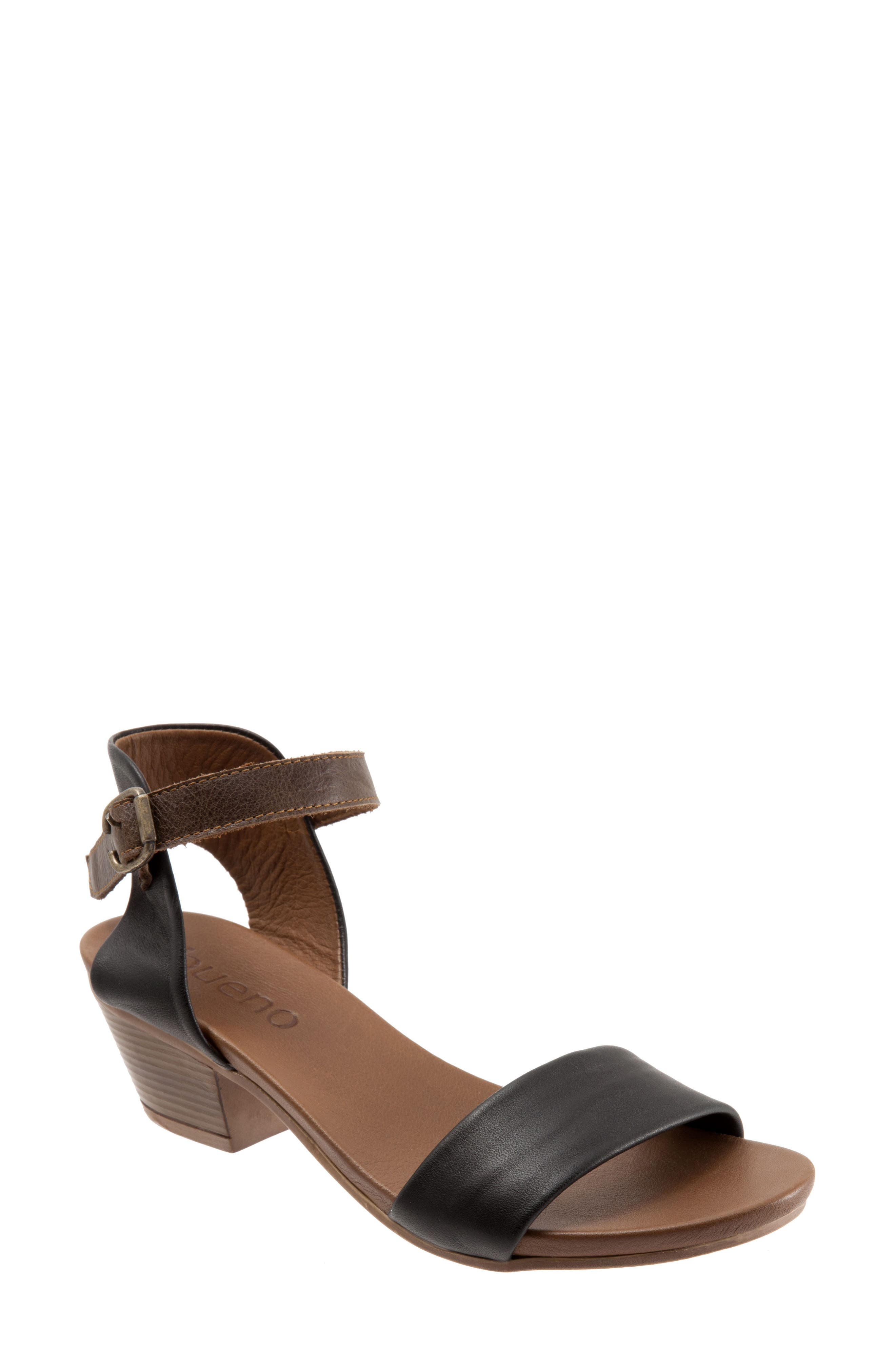 Sue Sandal,                             Main thumbnail 1, color,                             BLACK LEATHER