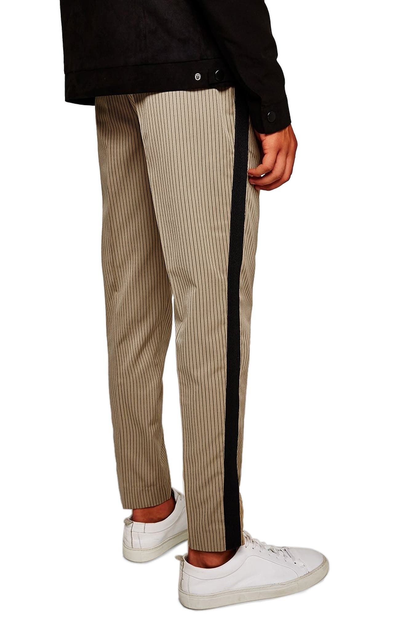 Slim Fit Pinstripe Jogger Pants,                         Main,                         color, LIGHT BROWN