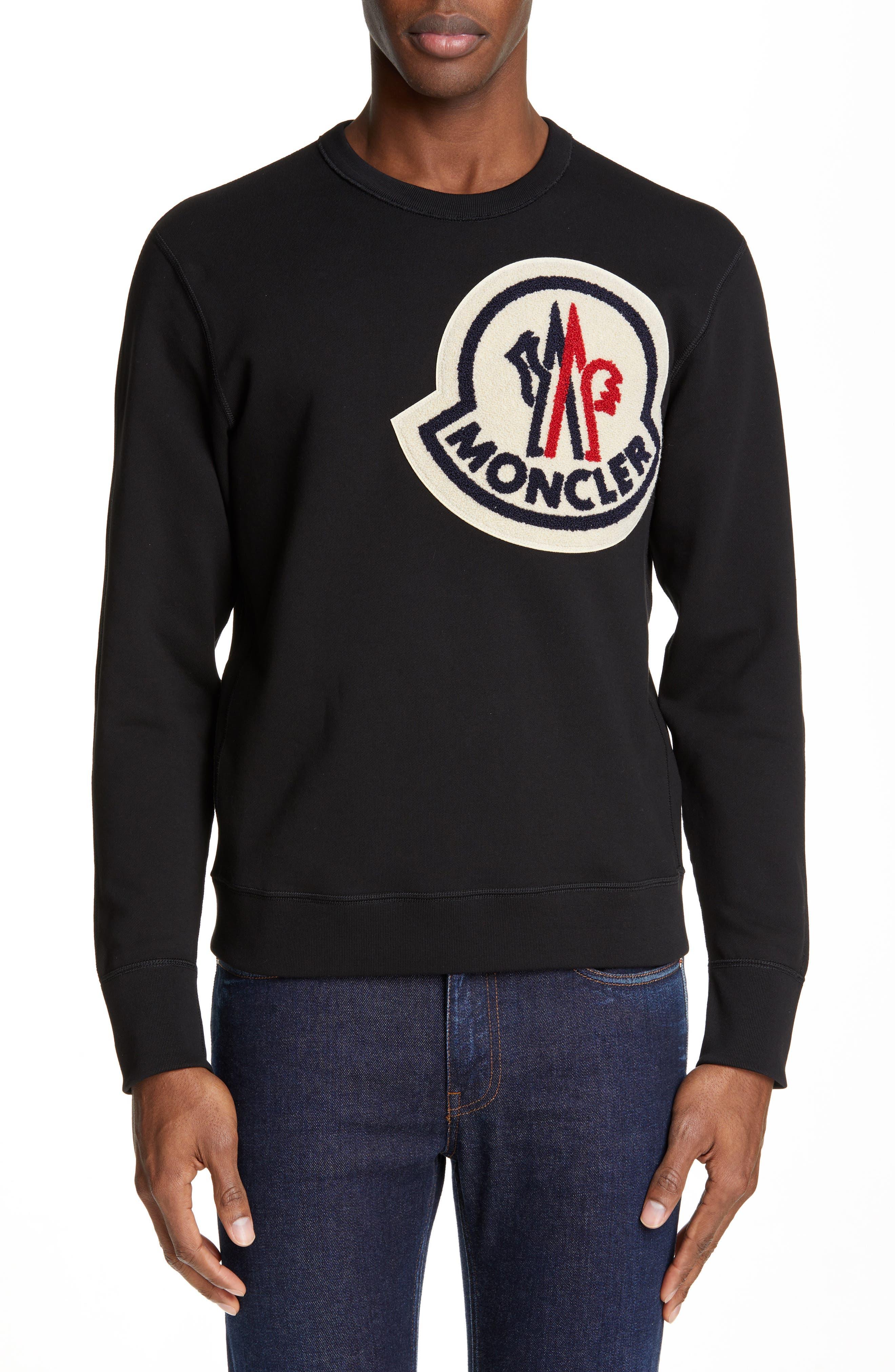 Maglia Sweatshirt, Main, color, BLACK