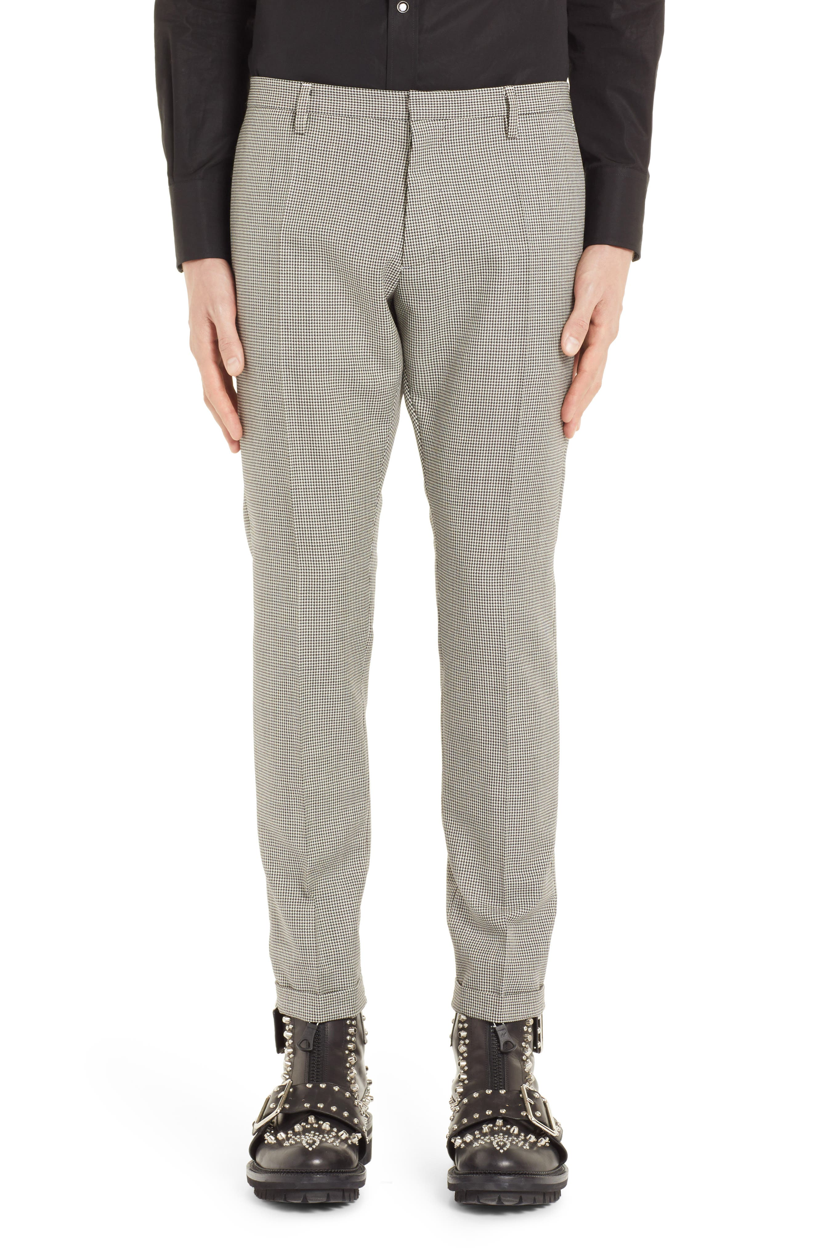 Houndstooth Slim Straight Leg Pants,                         Main,                         color, 014