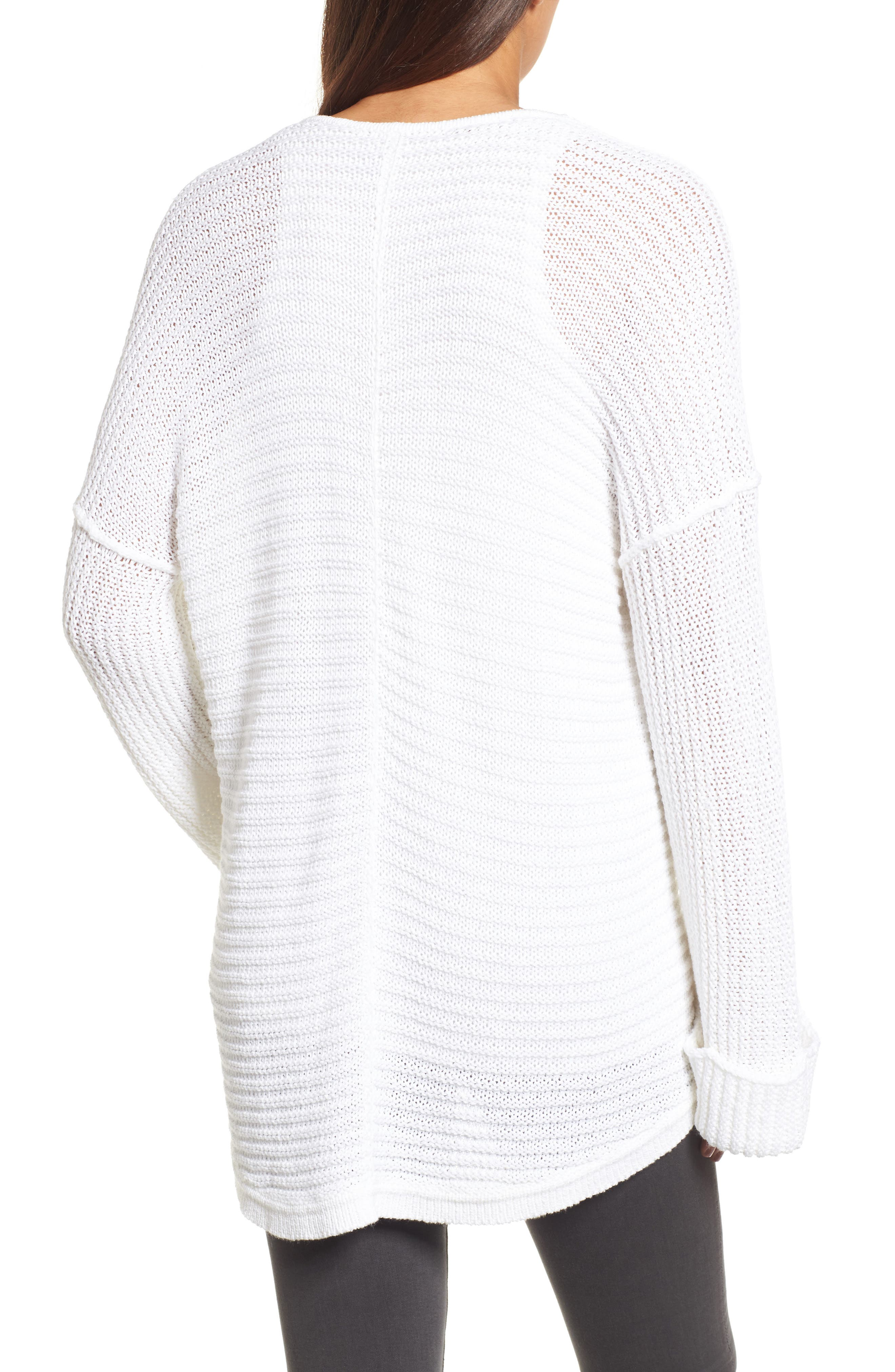 Cuffed Sleeve Sweater,                             Alternate thumbnail 8, color,