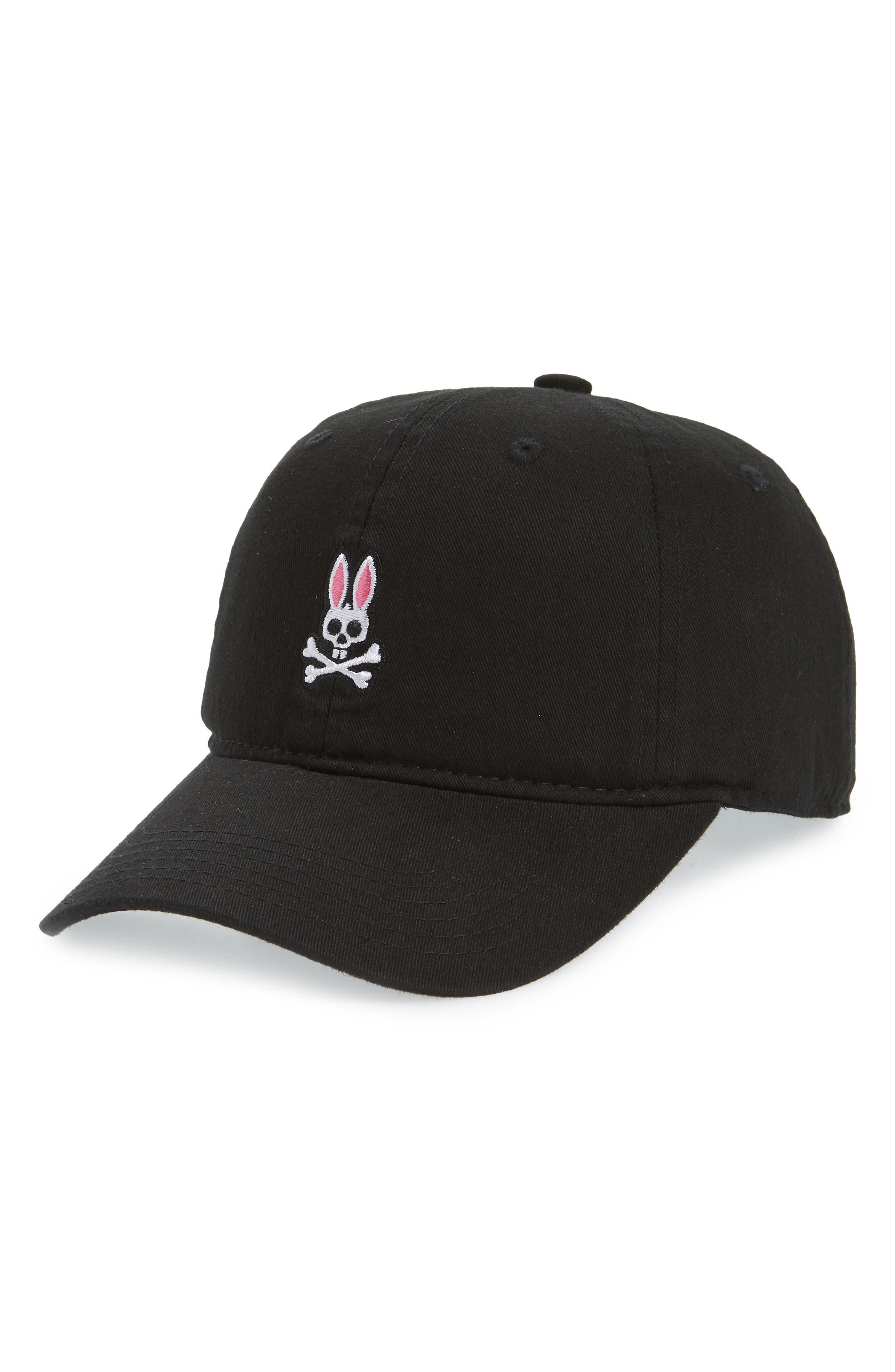 Sunbleached Logo Ball Cap, Main, color, BLACK