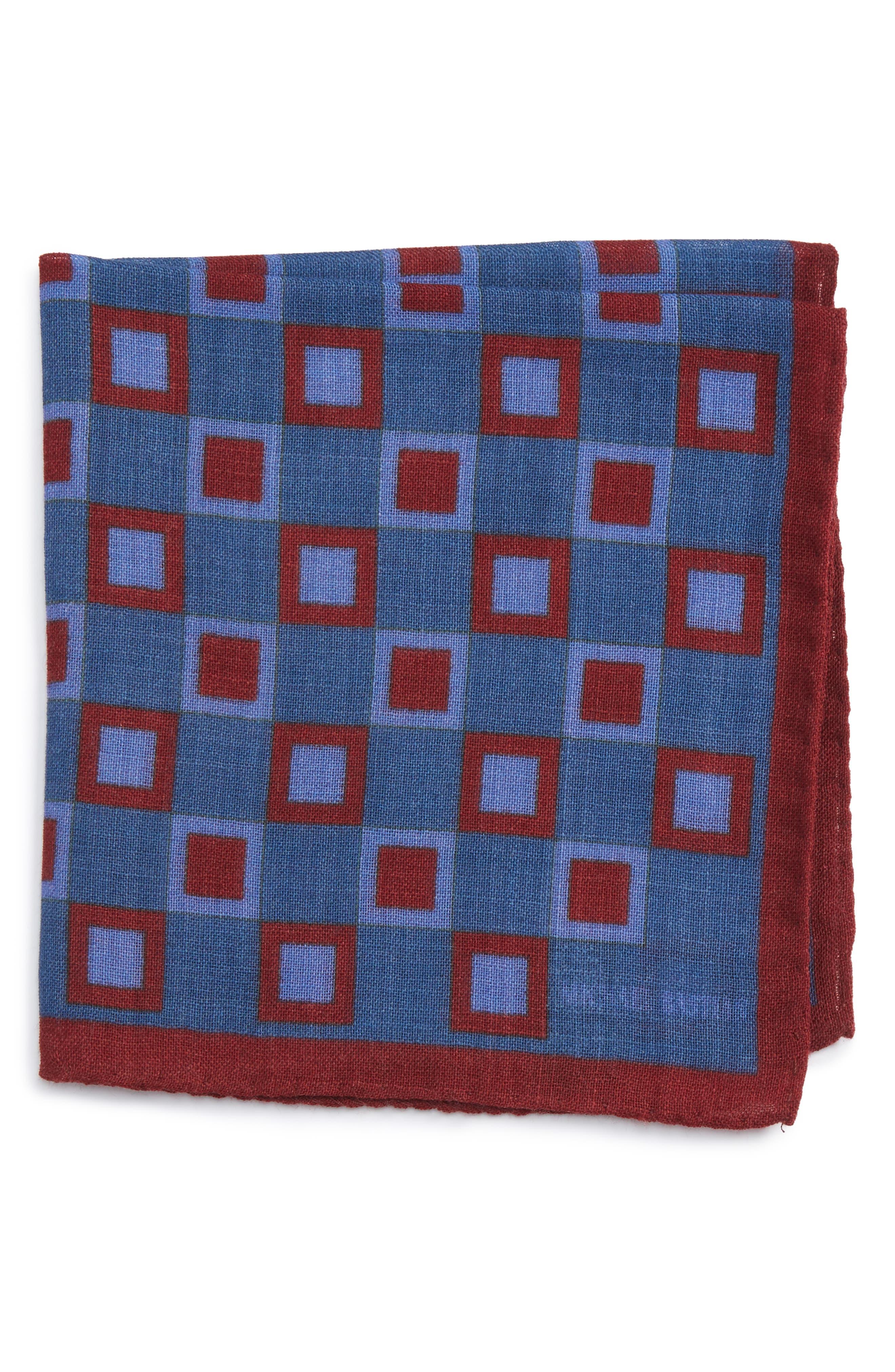 Geometric Pocket Square,                             Main thumbnail 2, color,