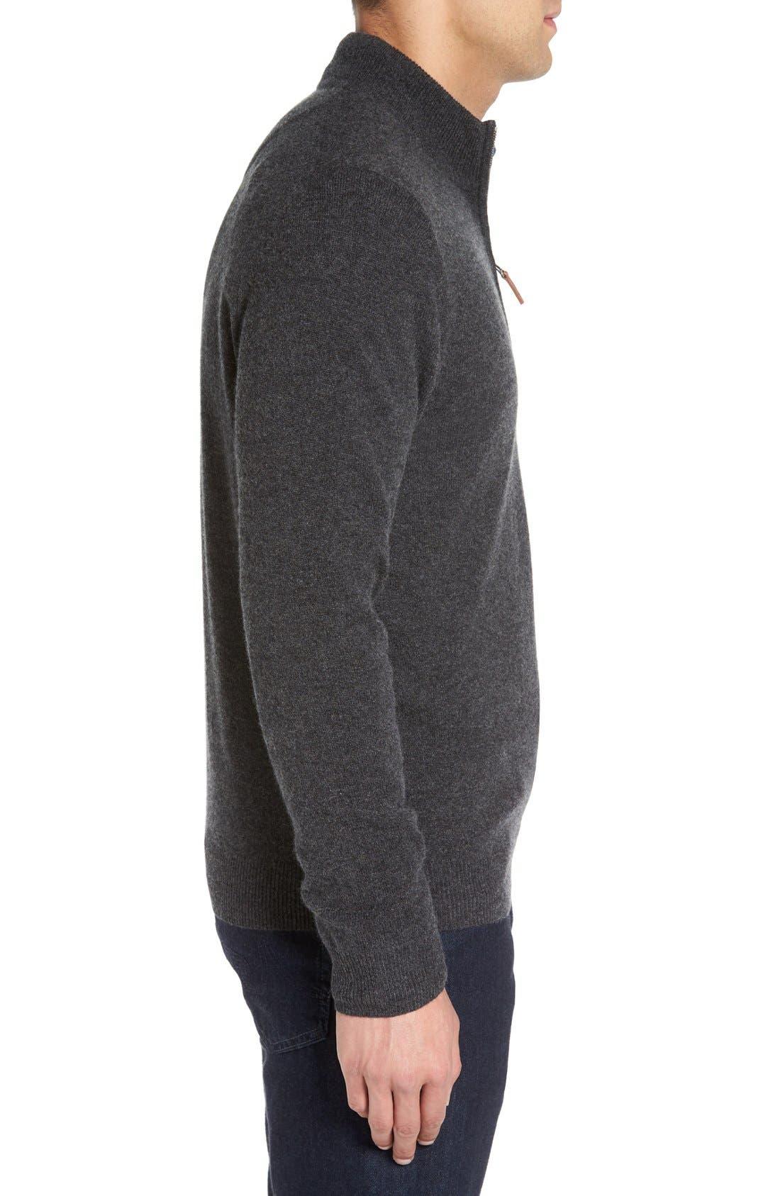 Cashmere Quarter Zip Sweater,                             Alternate thumbnail 45, color,