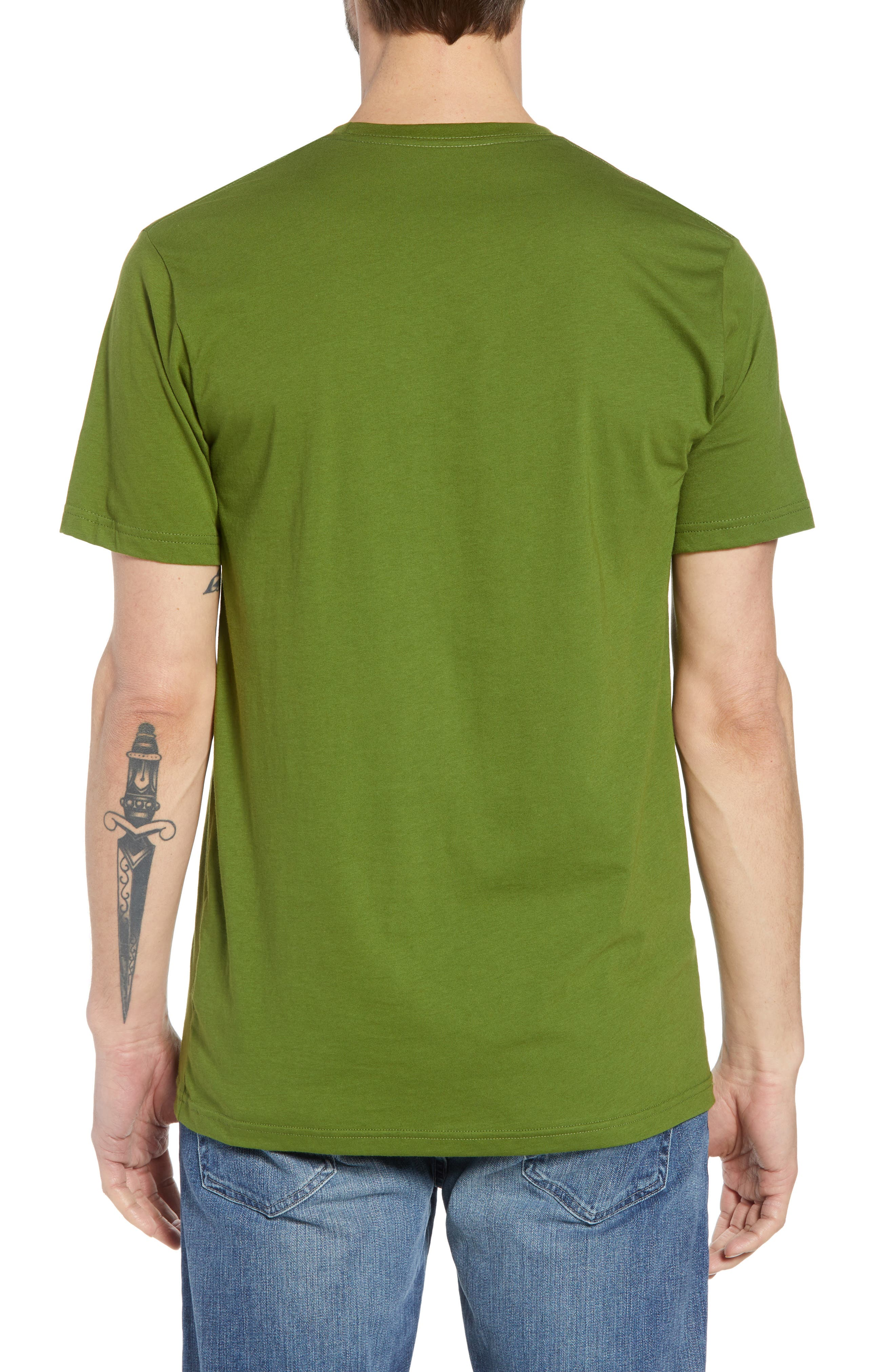 Fitz Roy Bear Crewneck T-Shirt,                             Alternate thumbnail 2, color,                             SPROUTED GREEN