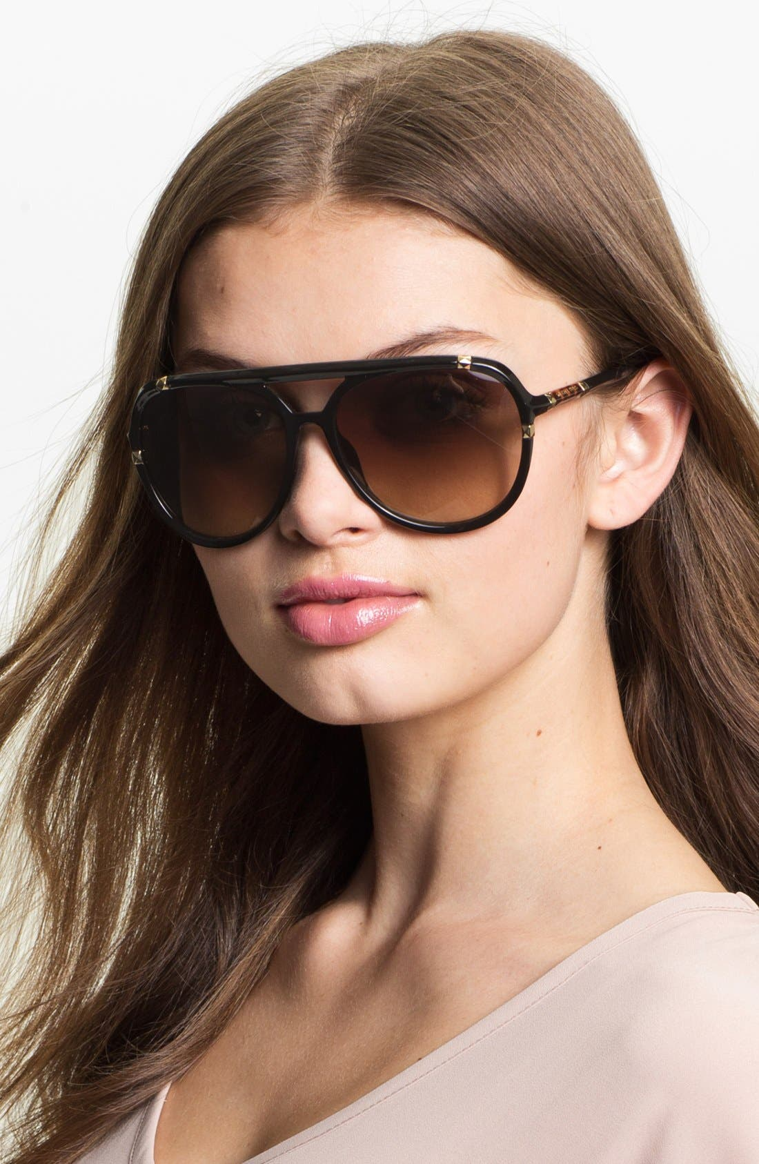 'Jemma' 60mm Aviator Sunglasses,                         Main,                         color, 001
