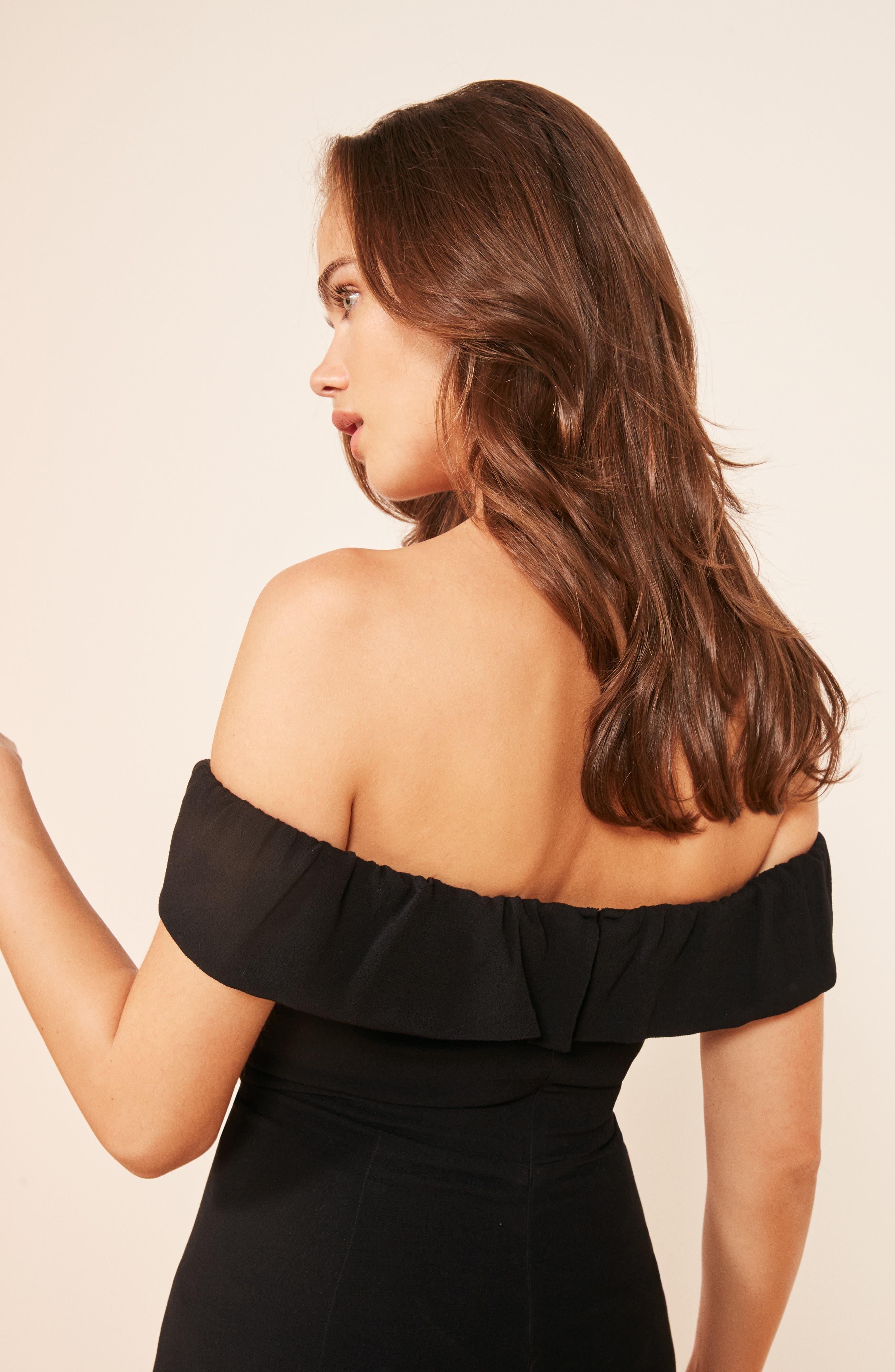 Bali Gown,                             Alternate thumbnail 6, color,                             BLACK
