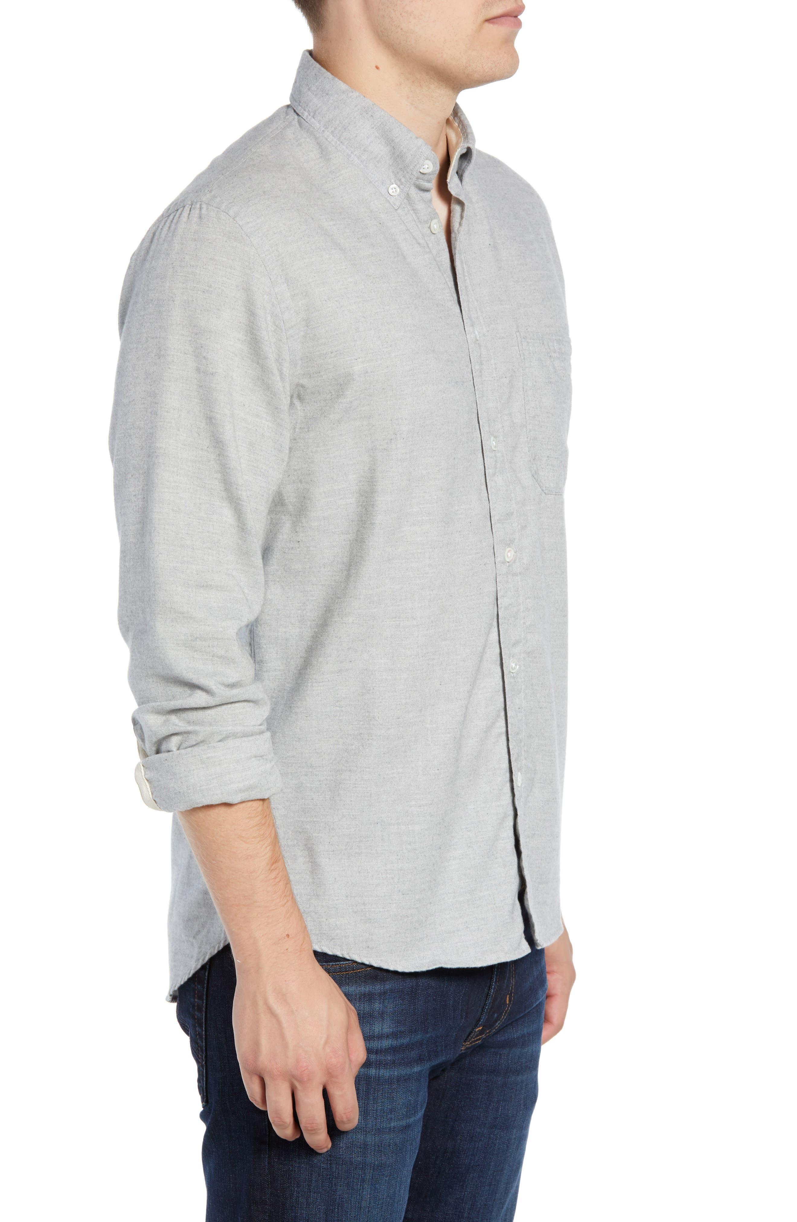 Tuscumbia Regular Fit Sport Shirt,                             Alternate thumbnail 4, color,                             LIGHT GREY