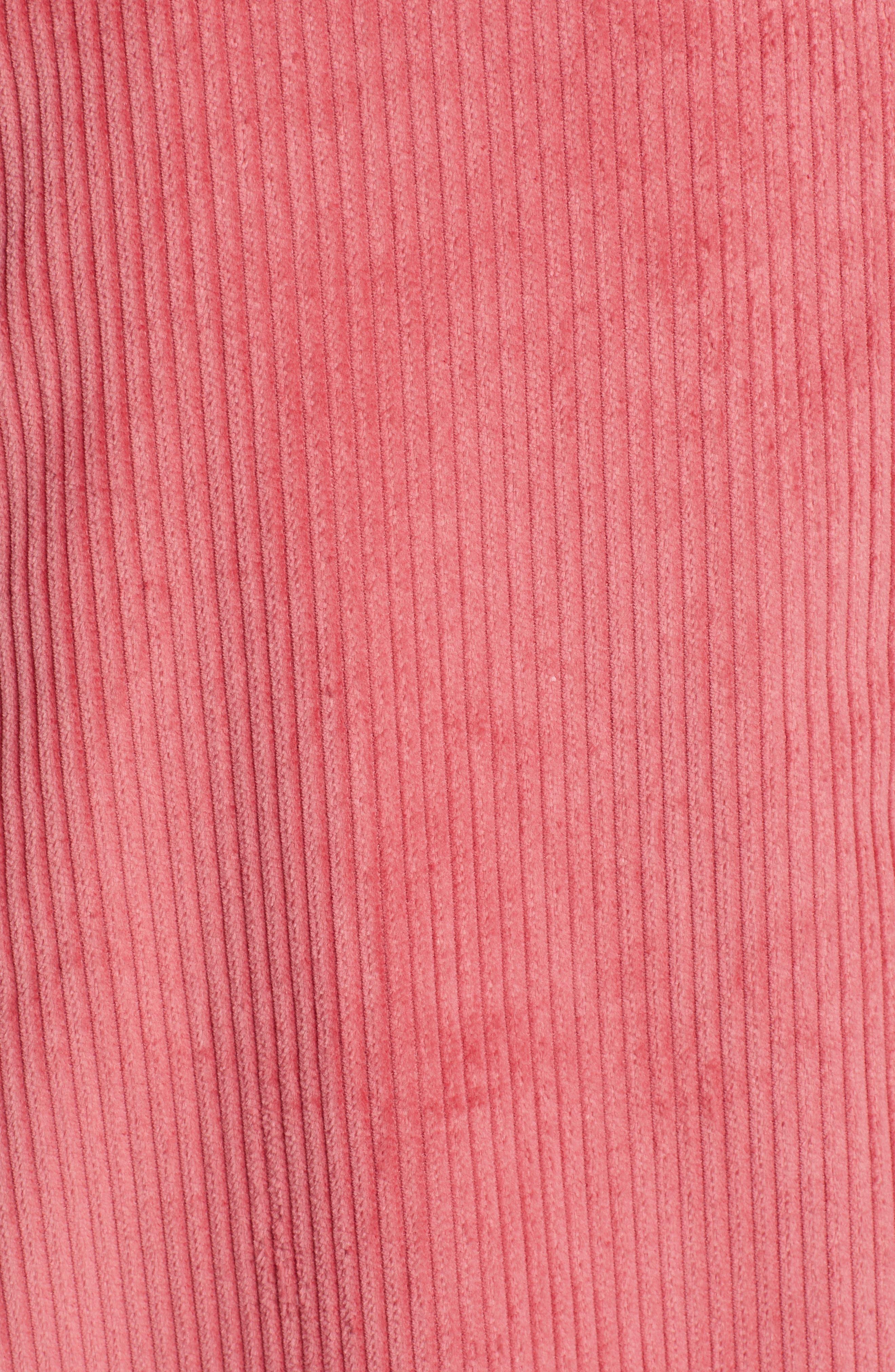 Corduroy Knee Length Skirt,                             Alternate thumbnail 5, color,                             660