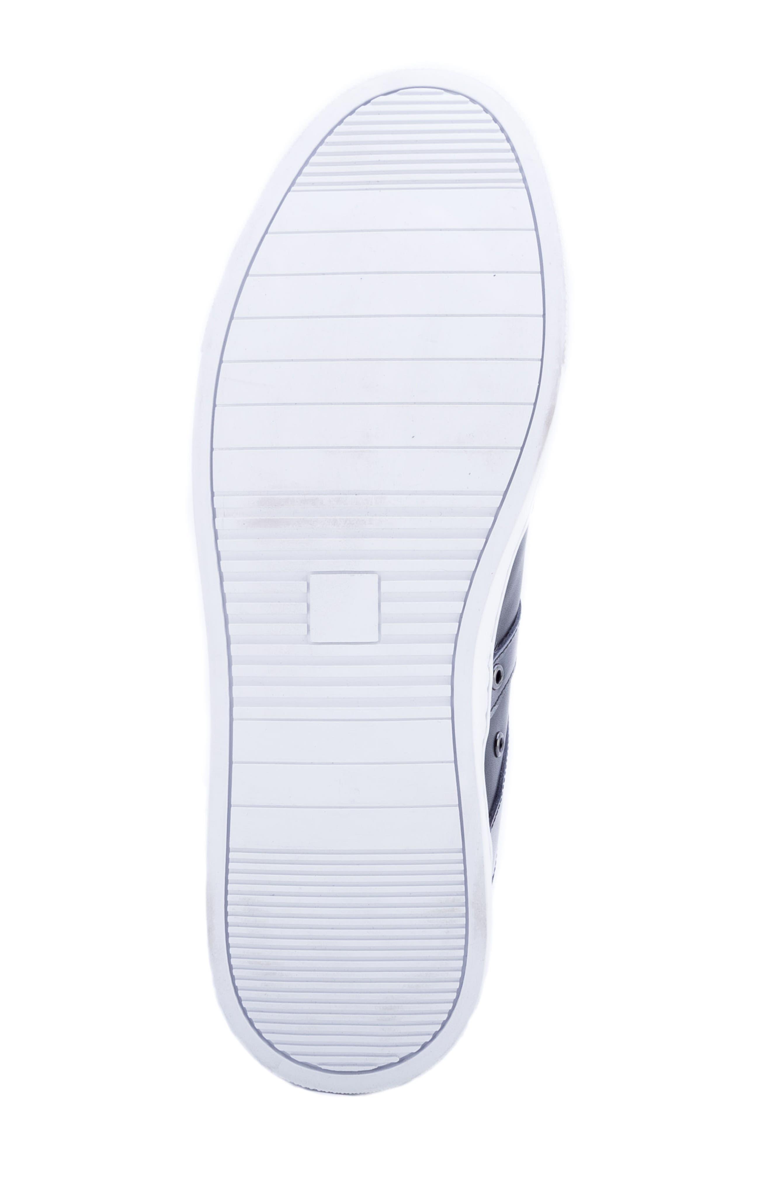 Sutherland Sneaker,                             Alternate thumbnail 6, color,                             BLACK LEATHER