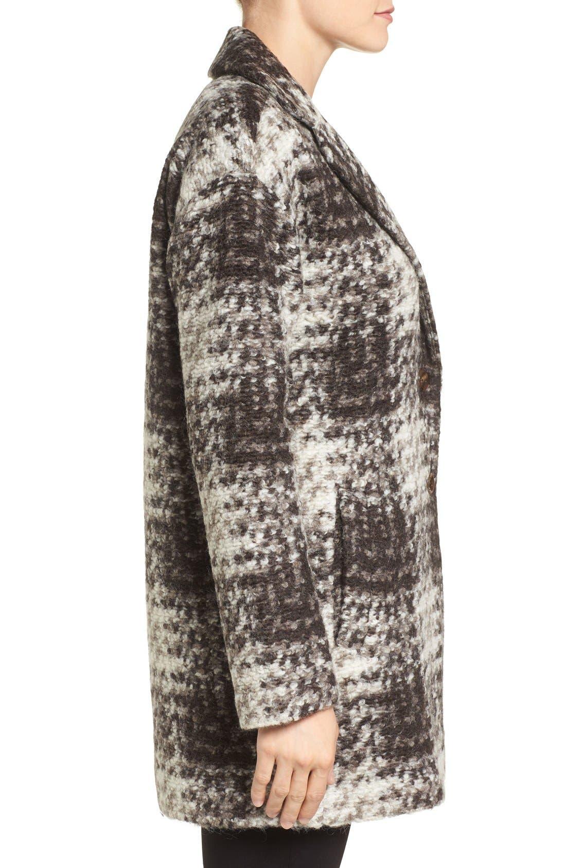 BERNARDO,                             Plaid Sweater Coat,                             Alternate thumbnail 3, color,                             200