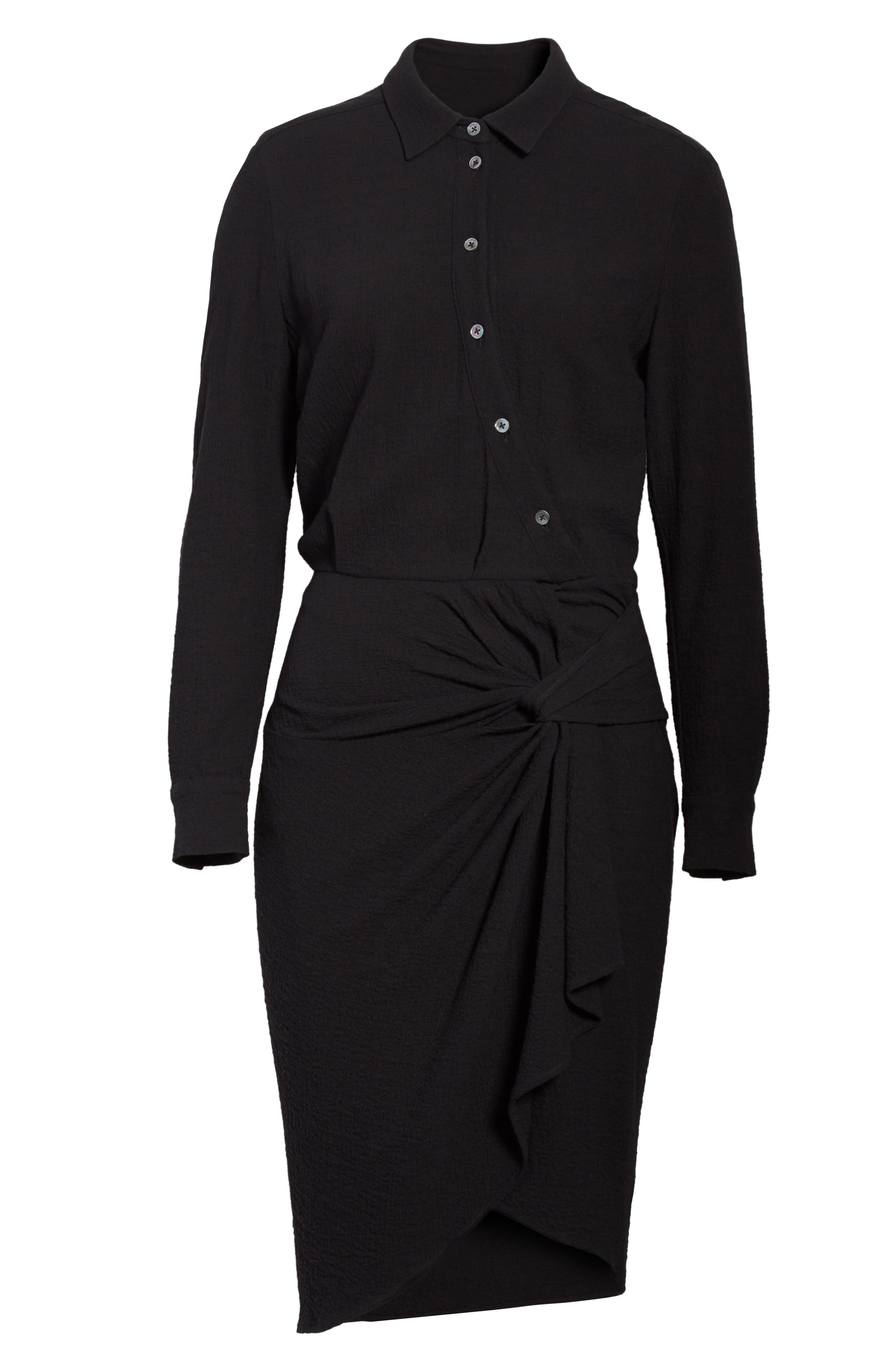 Wren Twist Hem Shirtdress,                             Alternate thumbnail 6, color,                             001
