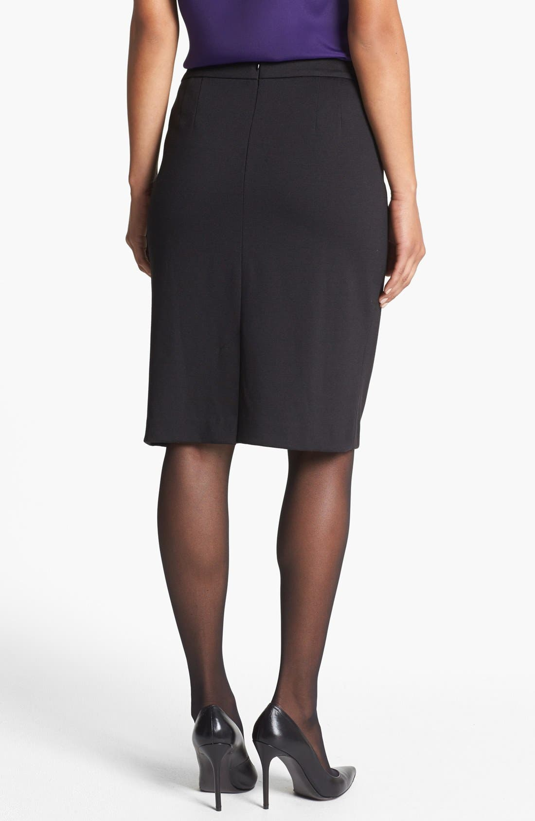 JONES NEW YORK,                             'Lucy' Ponte Knit Pencil Skirt,                             Alternate thumbnail 2, color,                             001