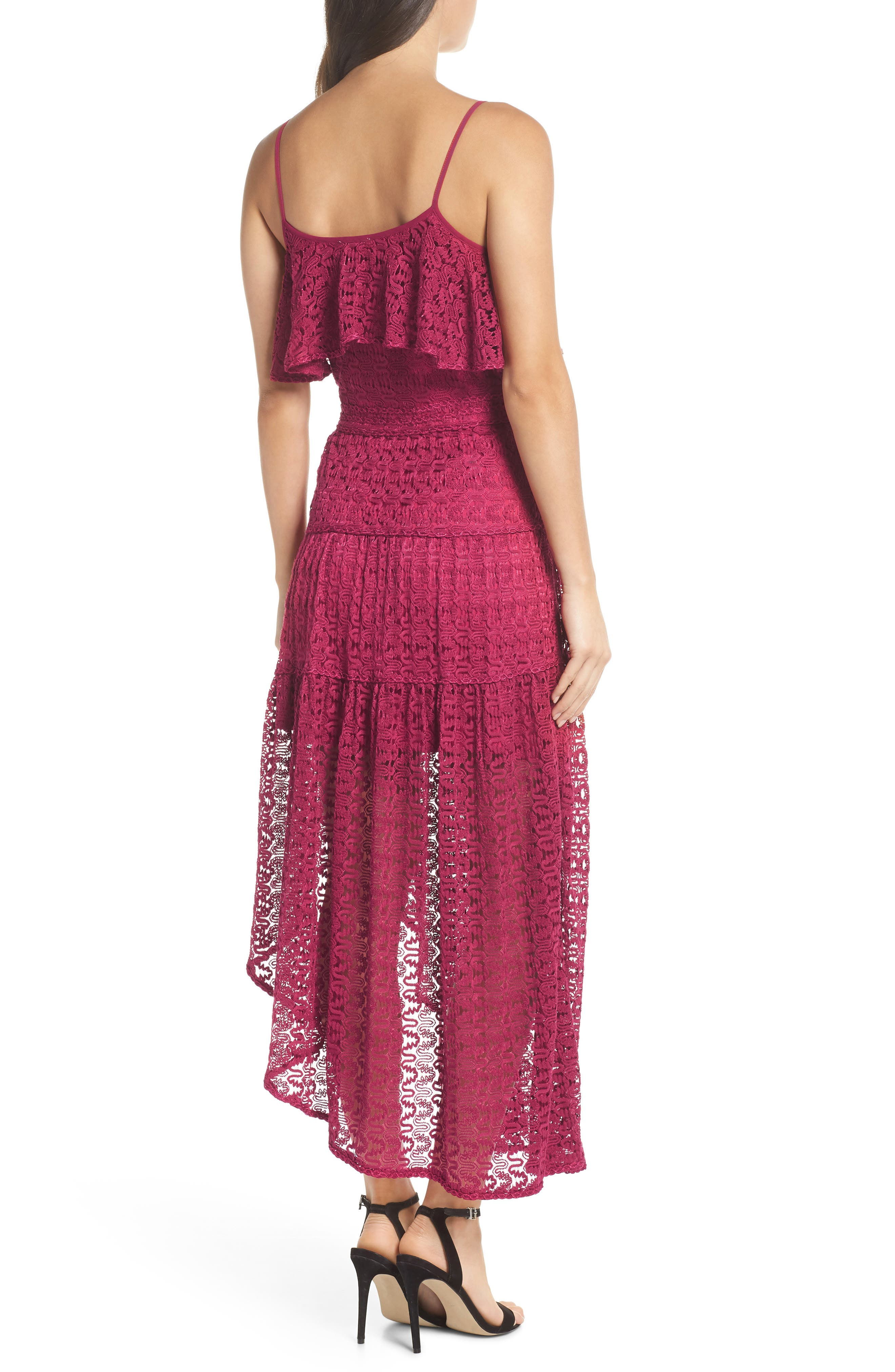 Rayna Asymmetrical Lace Dress,                             Alternate thumbnail 2, color,                             939