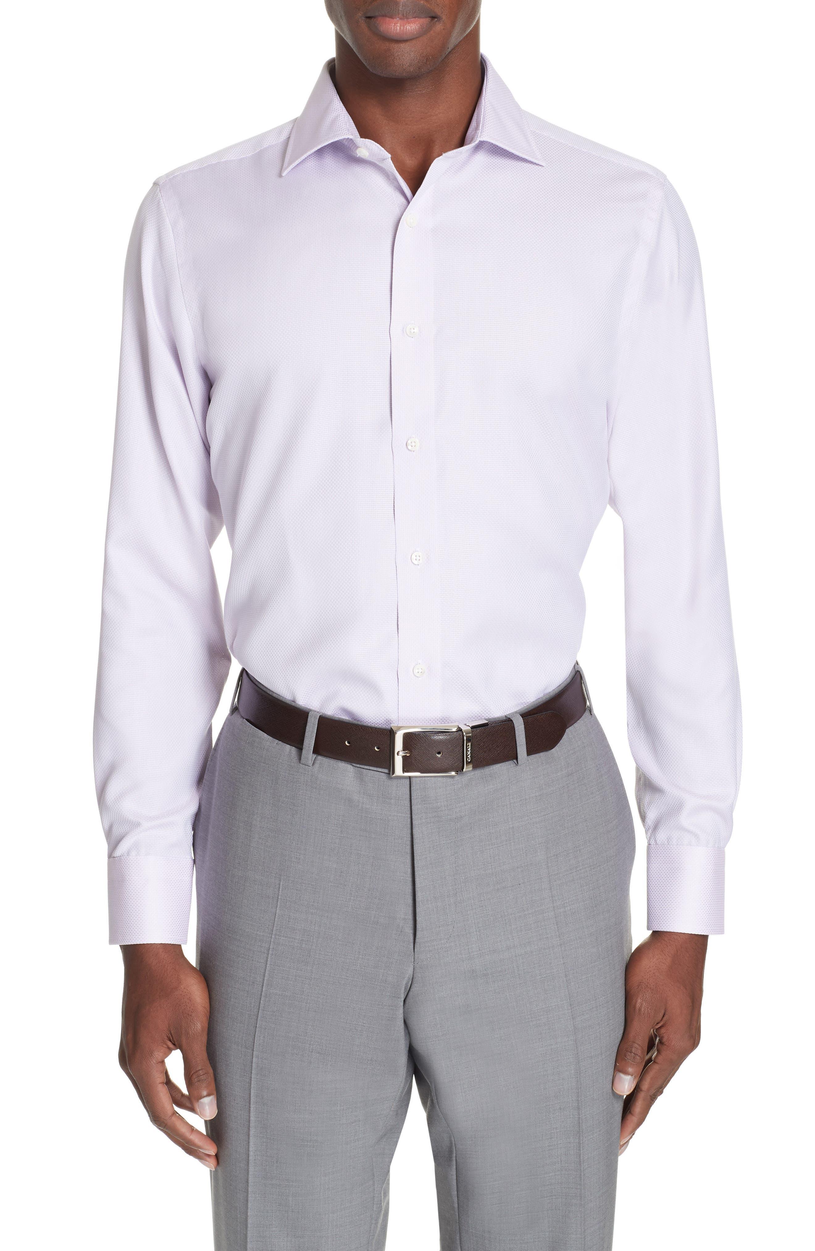 Trim Fit Solid Dress Shirt,                         Main,                         color, LIGHT PINK