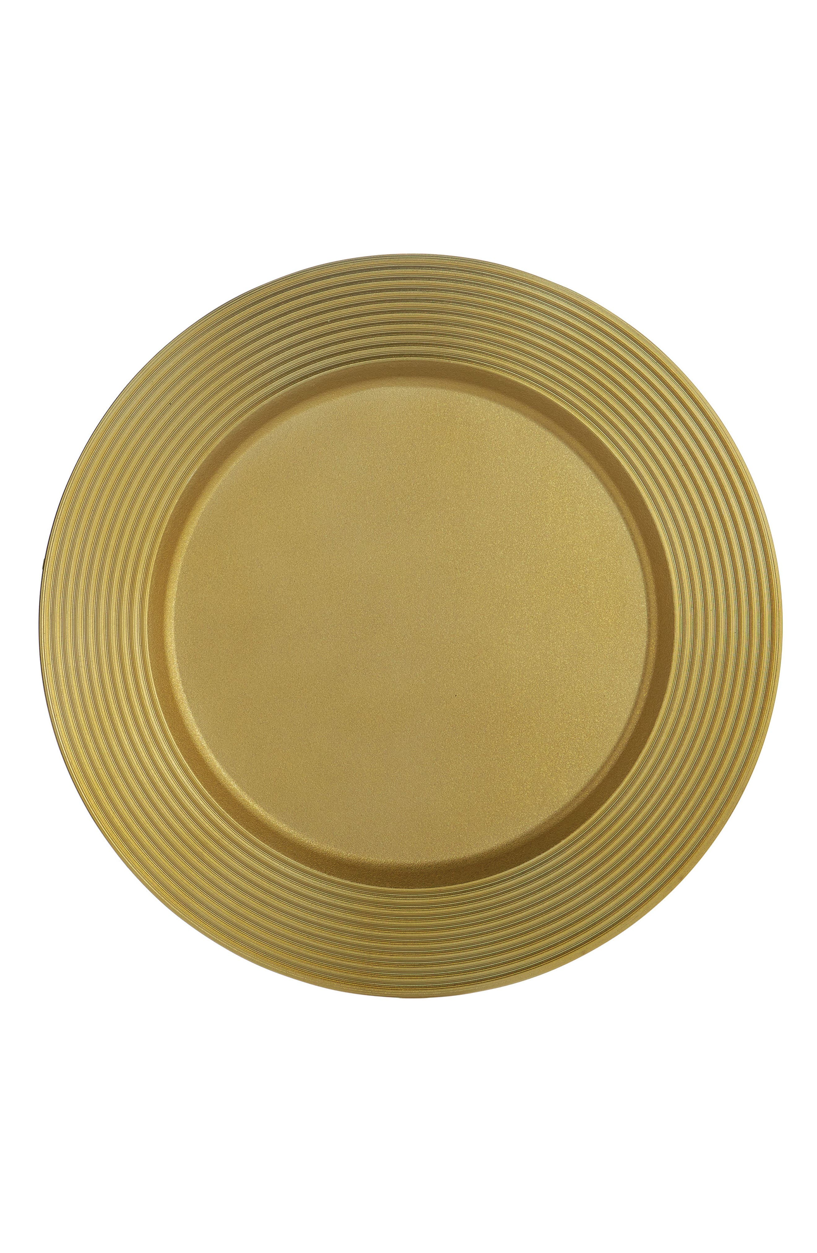 Wheat Charger Plate,                             Main thumbnail 1, color,                             GOLD
