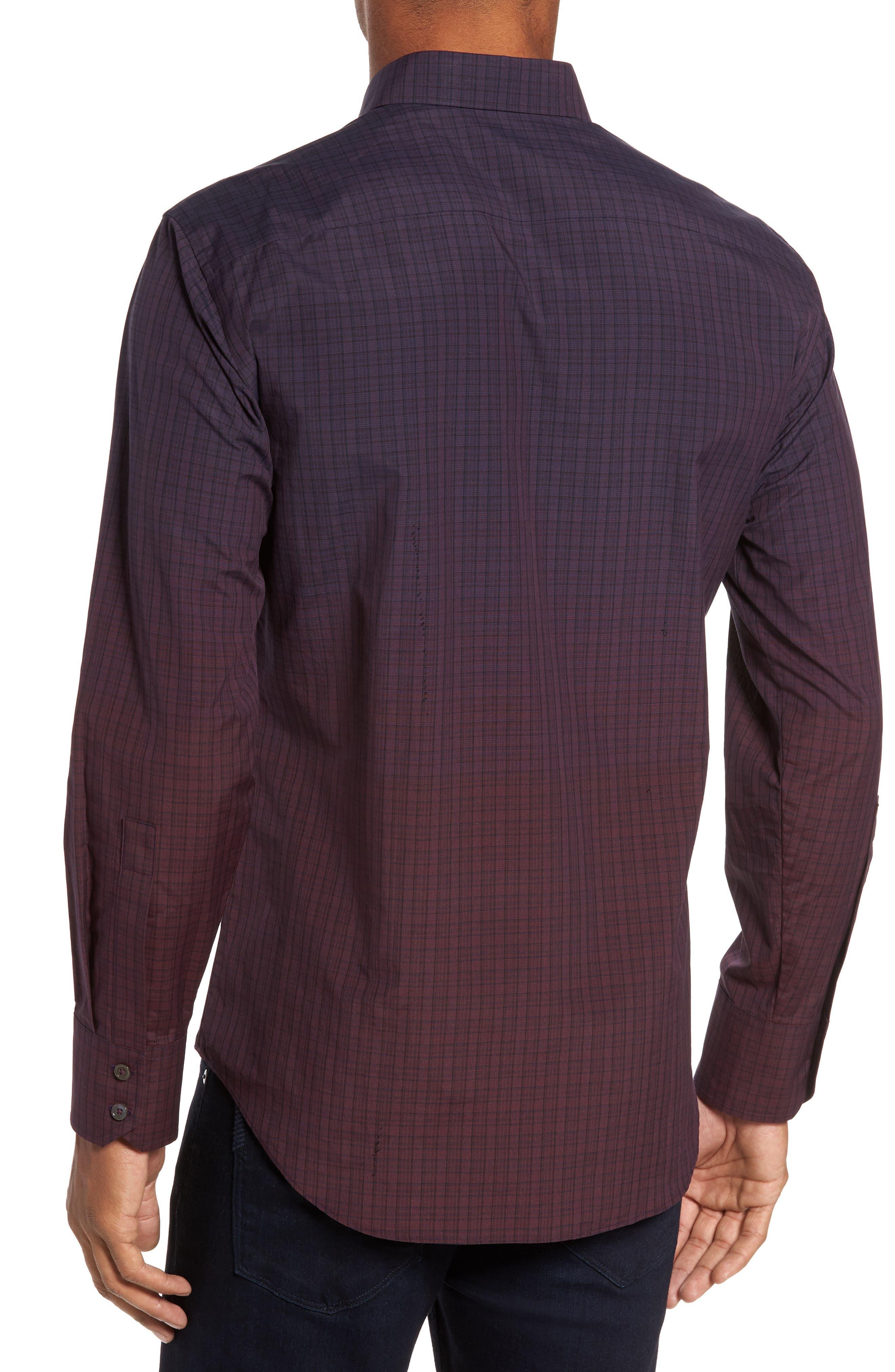 Wein Slim Fit Check Sport Shirt,                             Alternate thumbnail 4, color,