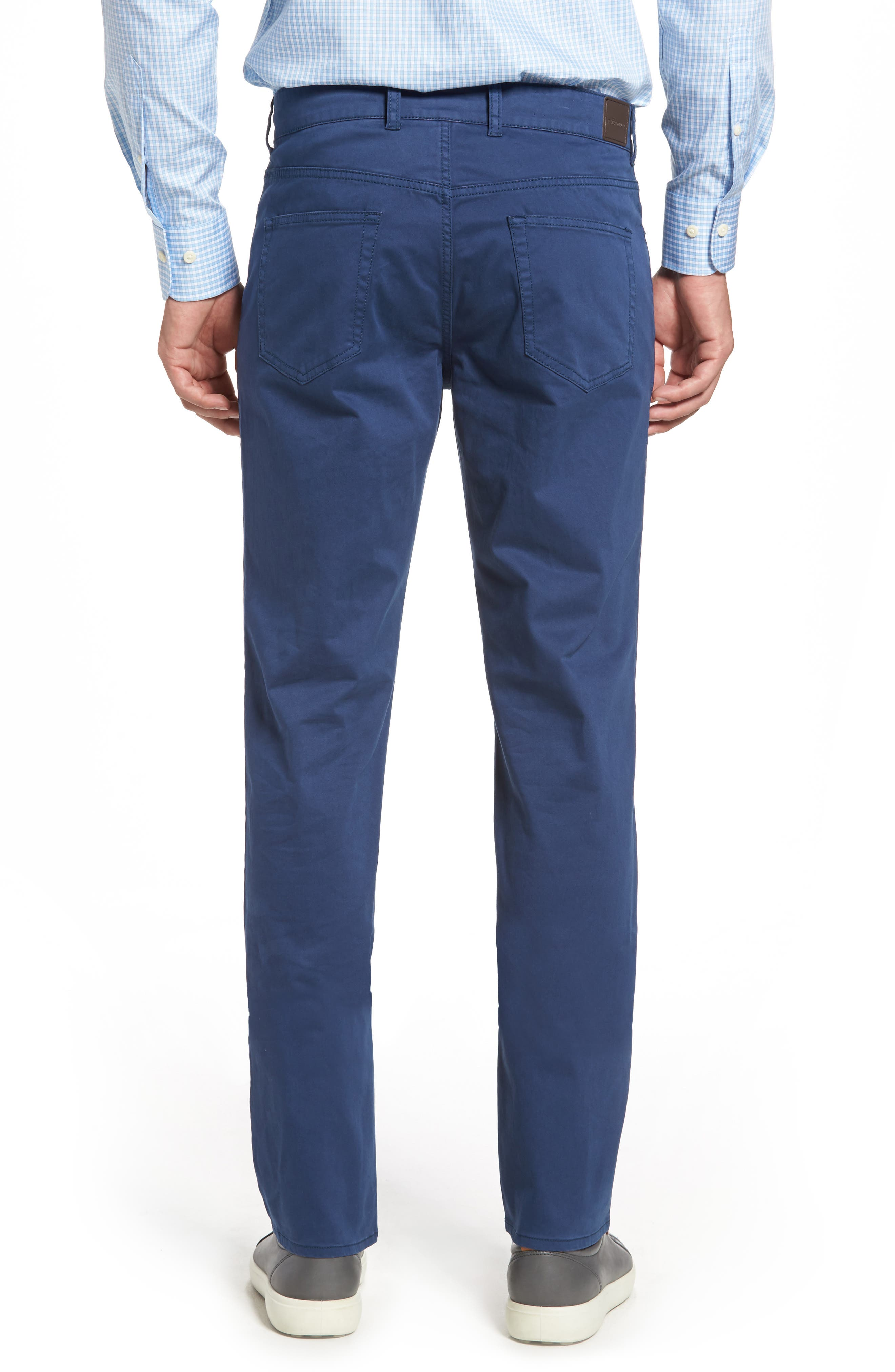 Stretch Sateen Five-Pocket Pants,                             Alternate thumbnail 8, color,