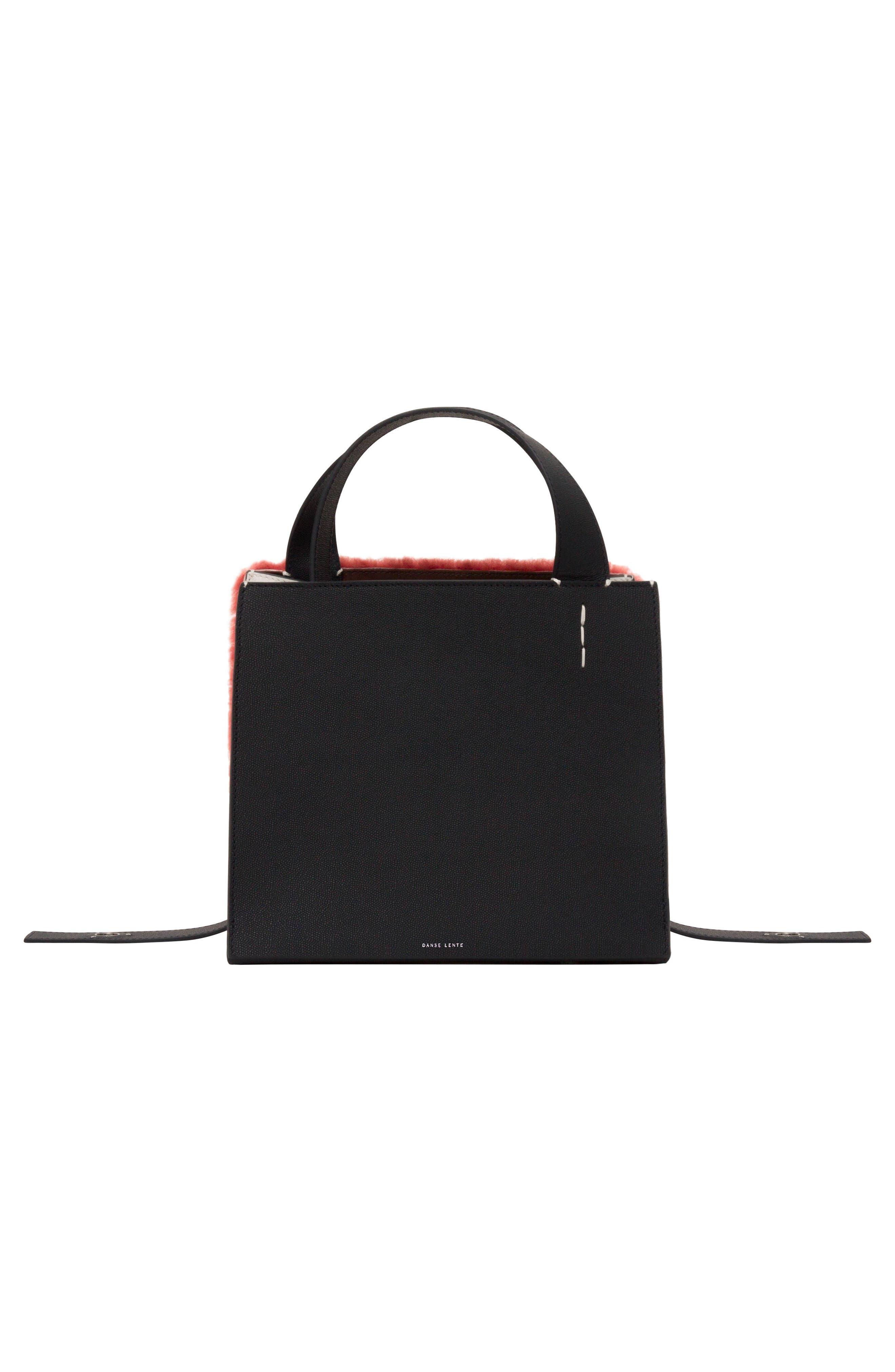 Margot Leather & Genuine Shearling Tote Bag,                             Alternate thumbnail 3, color,                             SHEARLING BRICK