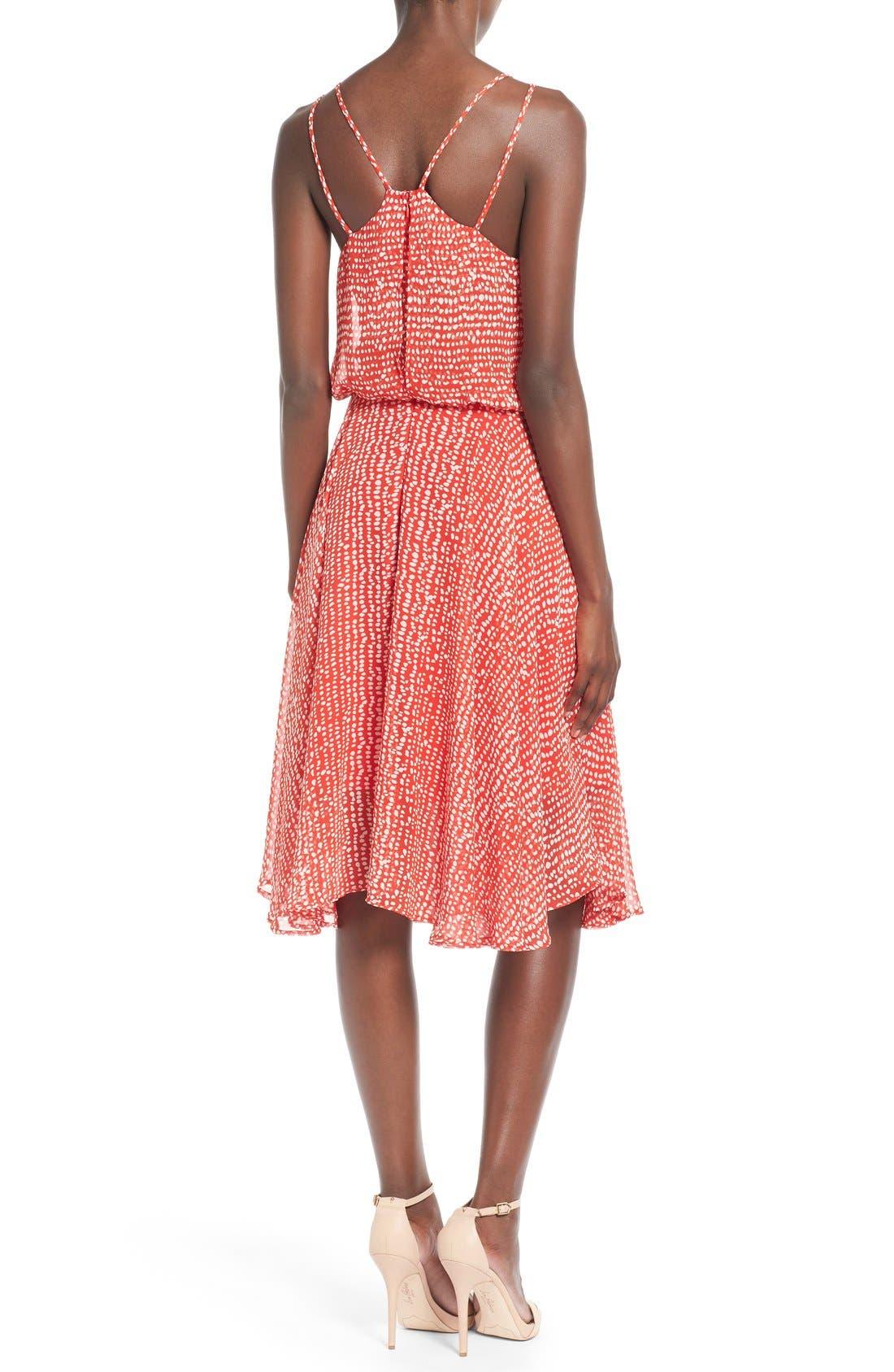 Midi Swing Dress,                             Alternate thumbnail 3, color,                             610