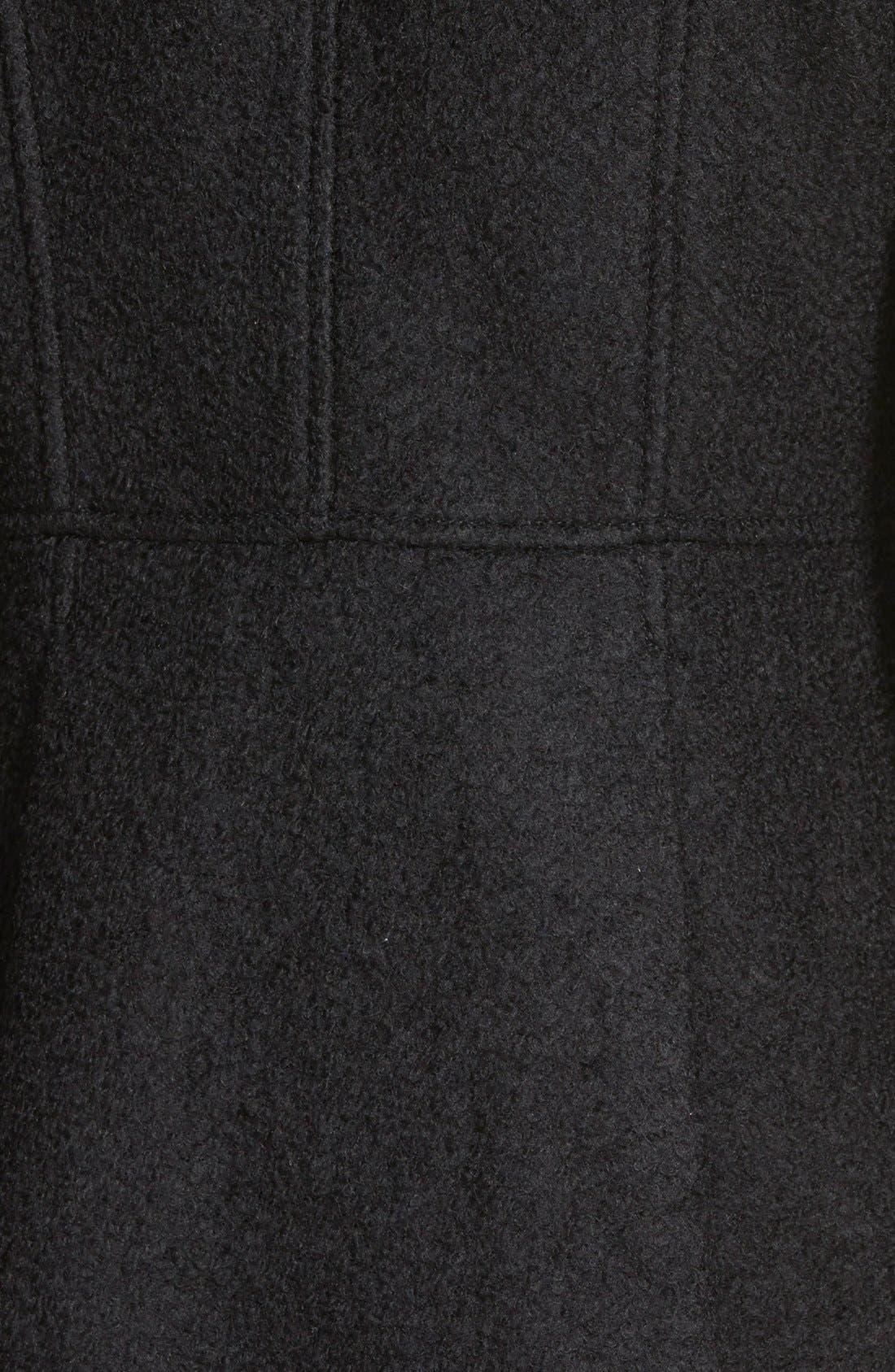 Double Breasted Bouclé Cutaway Coat,                             Alternate thumbnail 3, color,                             001