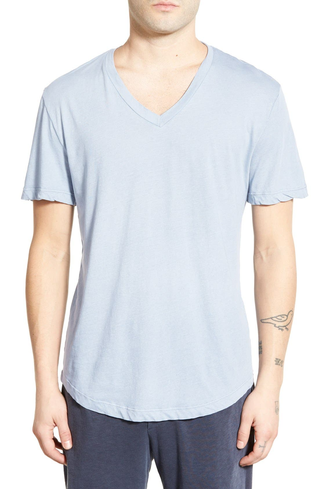 'Clear Jersey' Mélange V-Neck T-Shirt,                             Main thumbnail 9, color,
