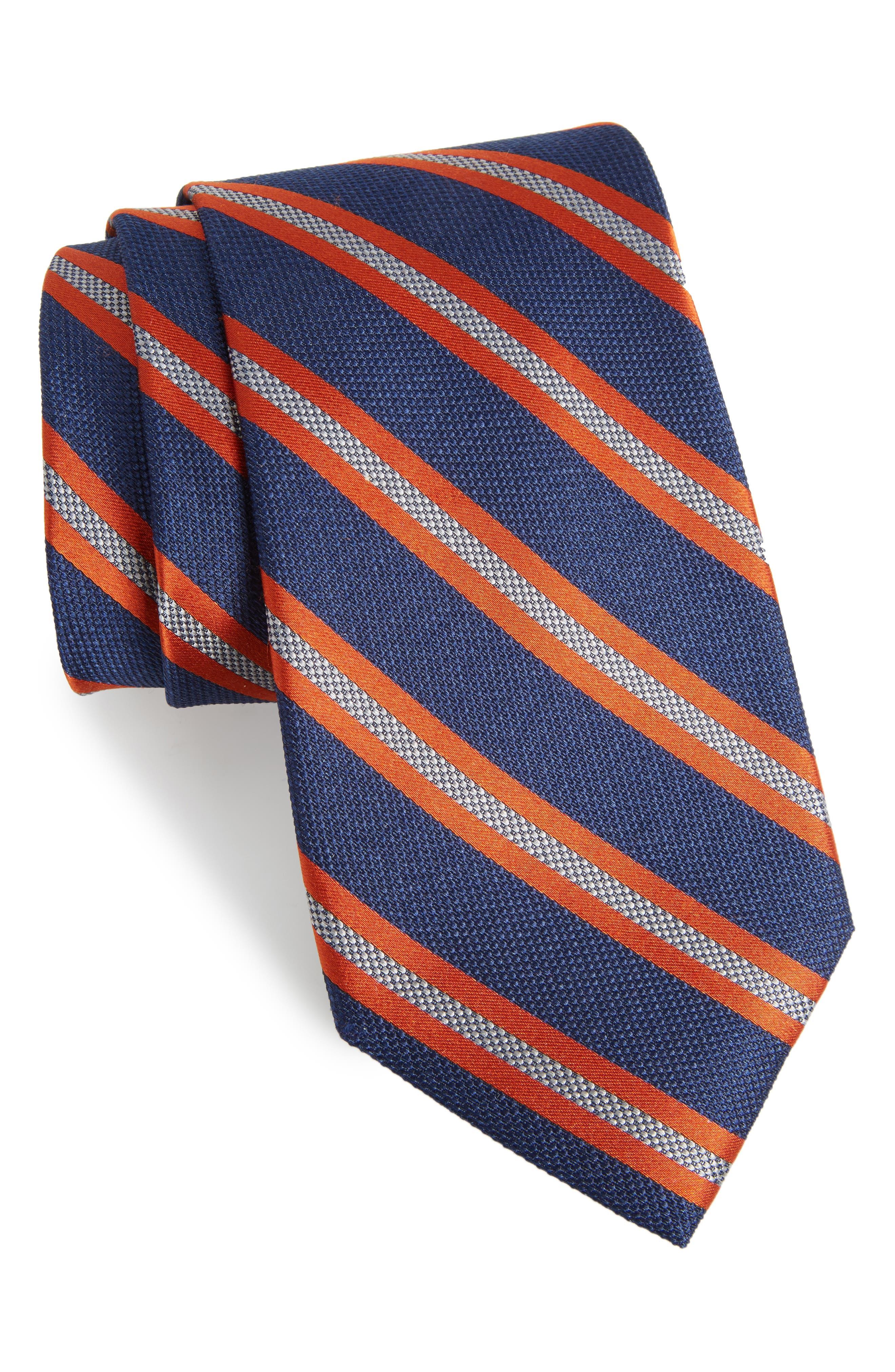 Oxford Stripe Silk Tie,                             Main thumbnail 1, color,