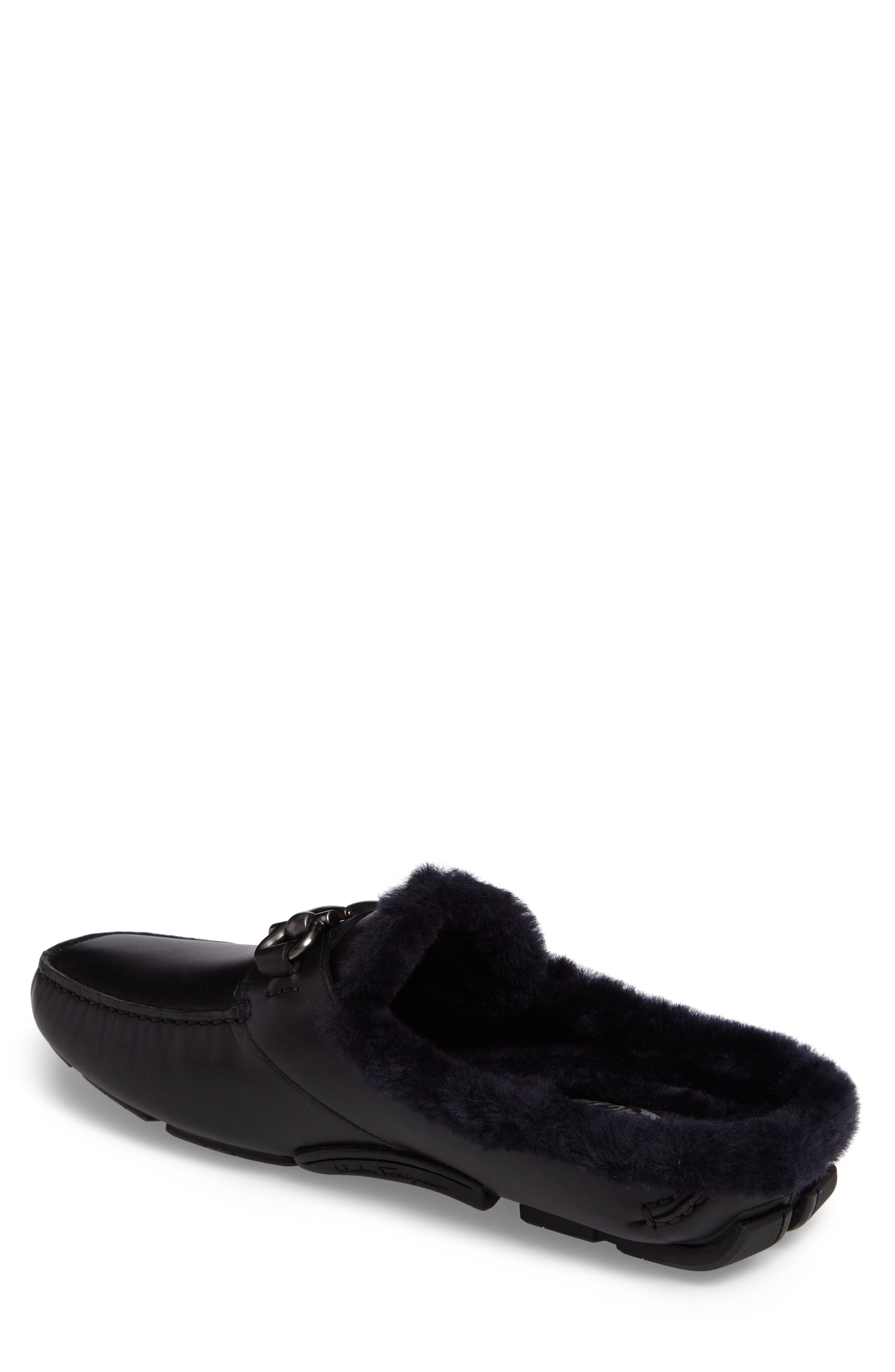 Driving Loafer with Genuine Shearling,                             Alternate thumbnail 2, color,                             001