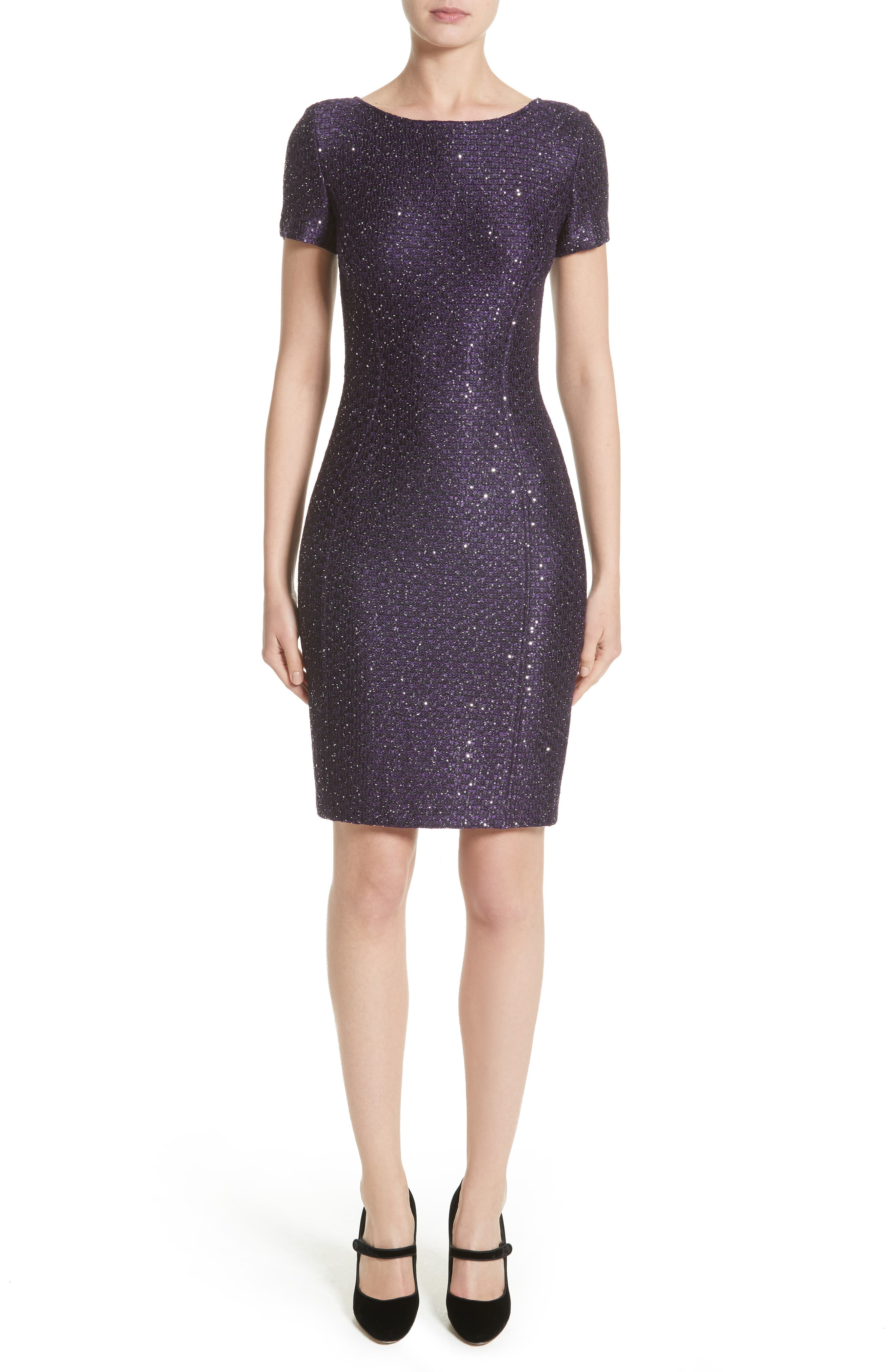 Hansh Sequin Knit Dress,                         Main,                         color, 500