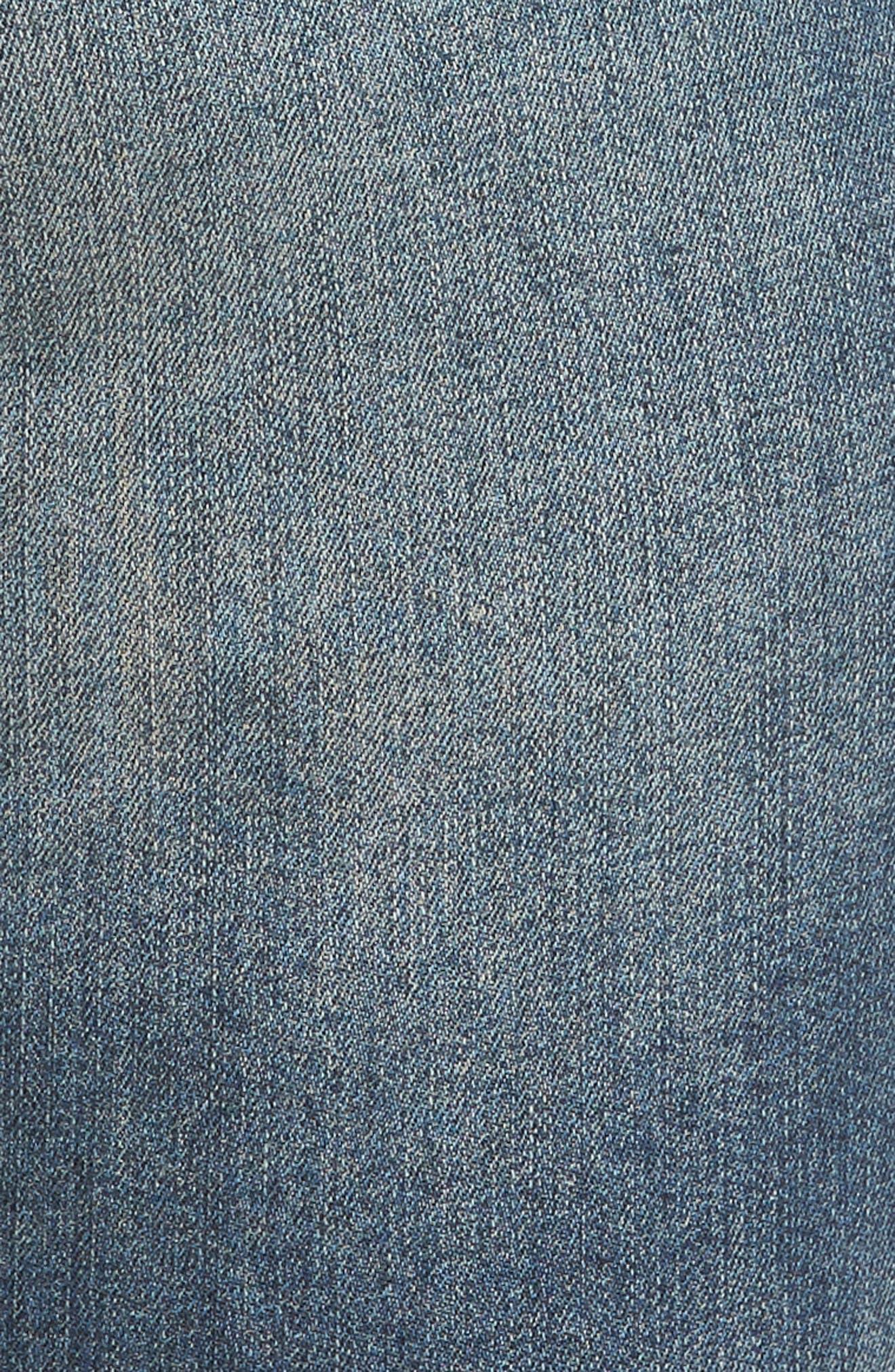 Catherine Ankle Straight Leg Jeans,                             Alternate thumbnail 4, color,                             452