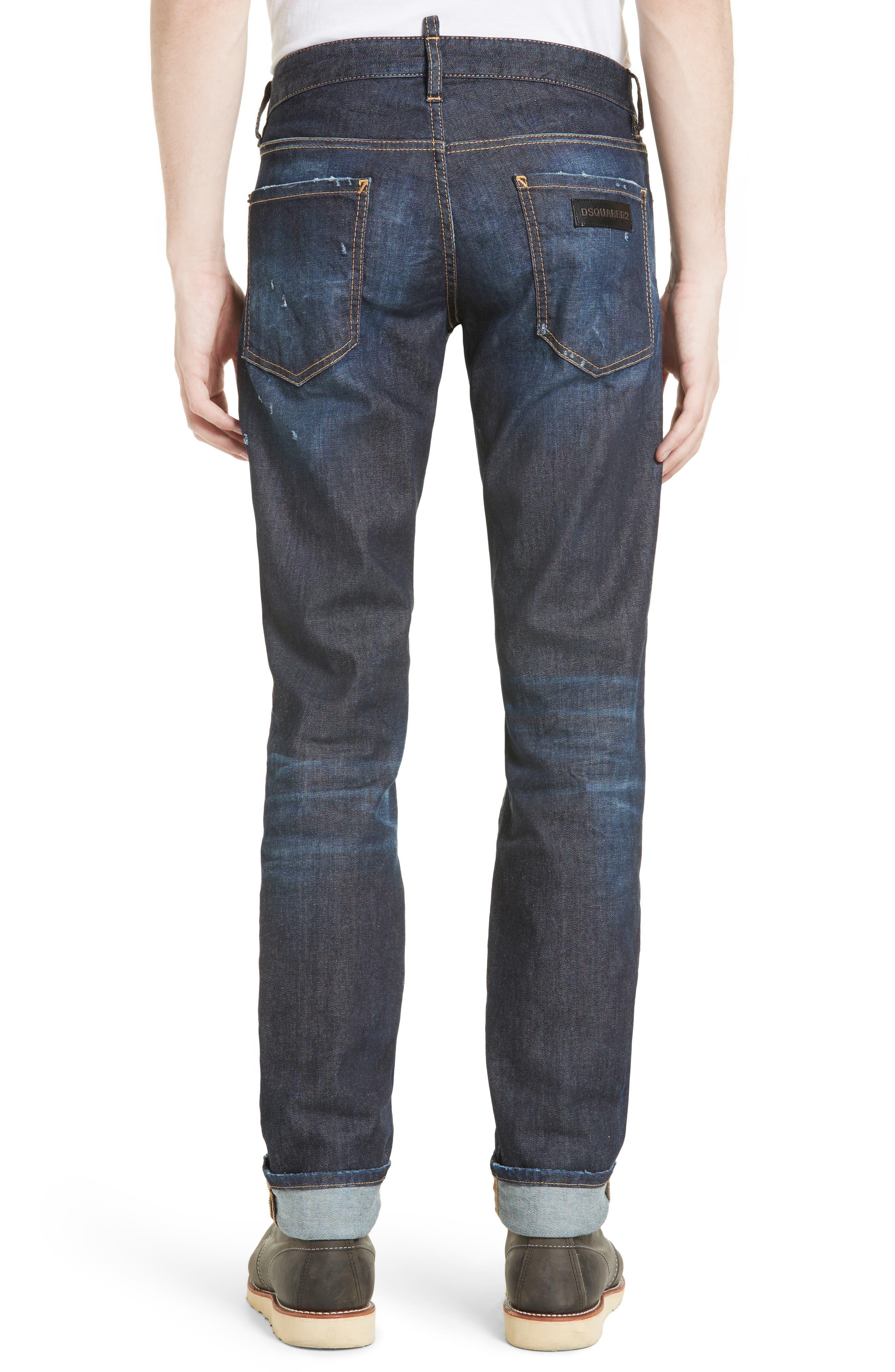 Slim Nothing Jeans,                             Alternate thumbnail 2, color,                             BLUE