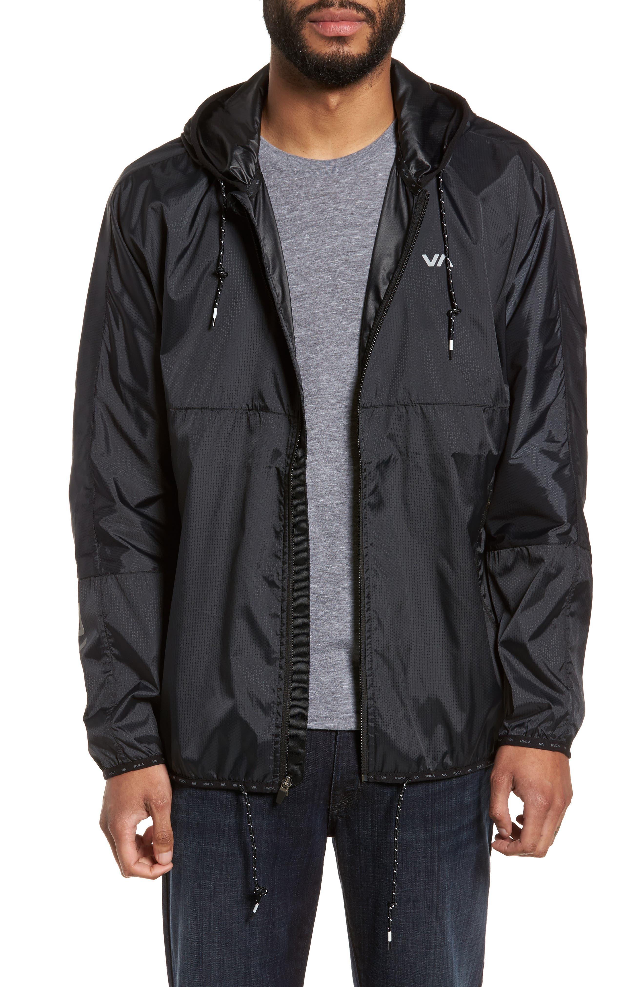 Hexstop II Water Repellent Hooded Jacket,                             Main thumbnail 1, color,                             001