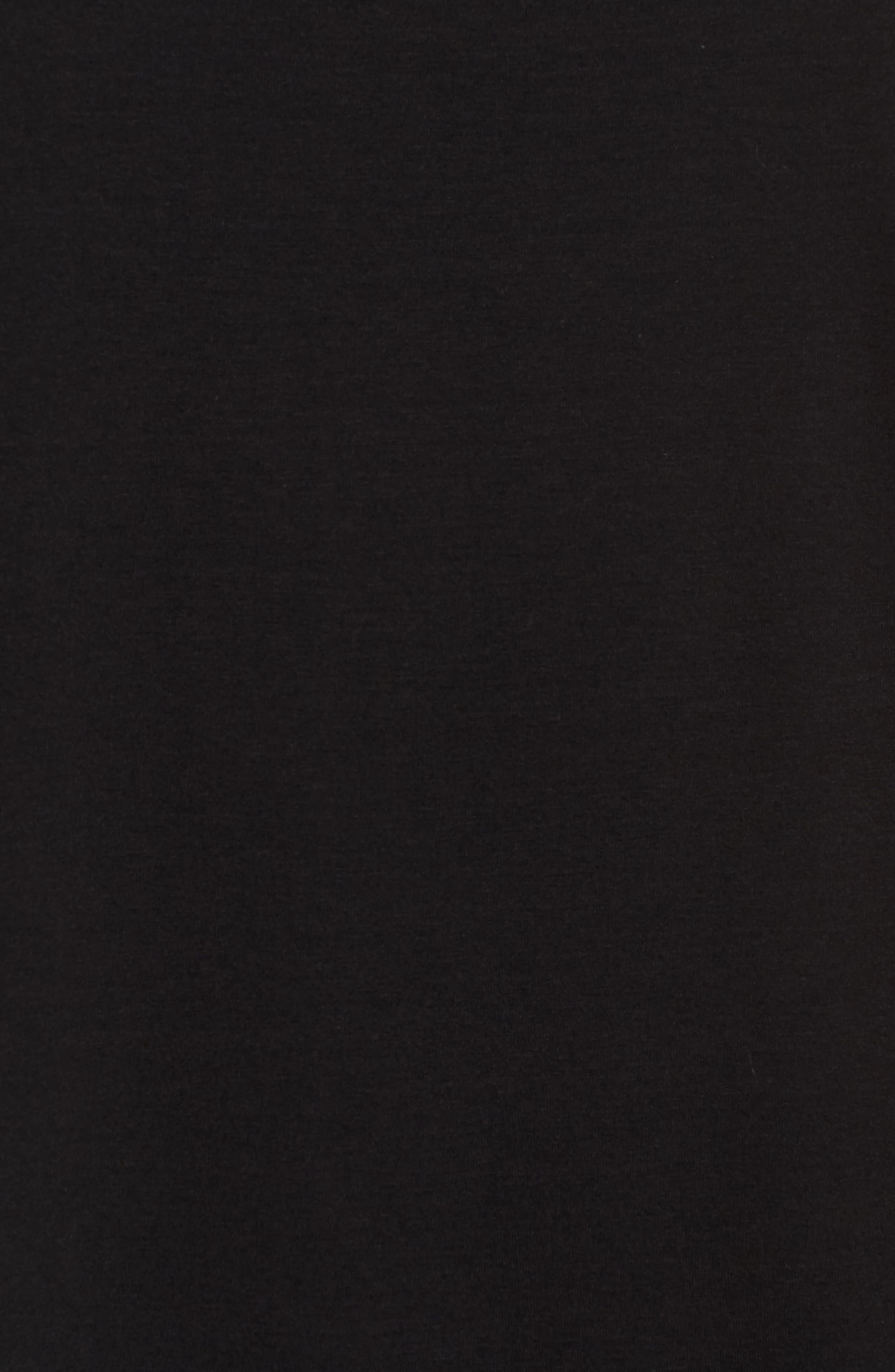U-Neck Stretch Jersey Tunic,                             Alternate thumbnail 5, color,                             001