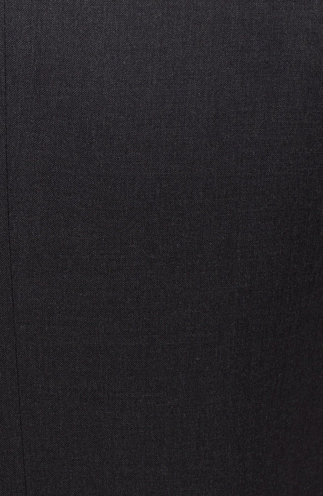 Classic Fit Wool Suit,                             Alternate thumbnail 5, color,                             CHARCOAL