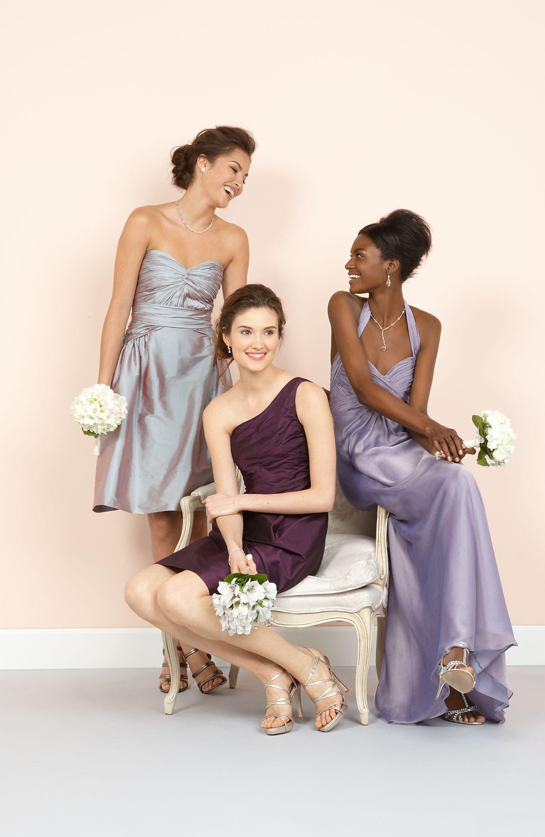 MONIQUE LHUILLIER BRIDESMAIDS,                             ML Monique Lhuillier Bridesmaids Strapless Taffeta Dress,                             Alternate thumbnail 3, color,                             953