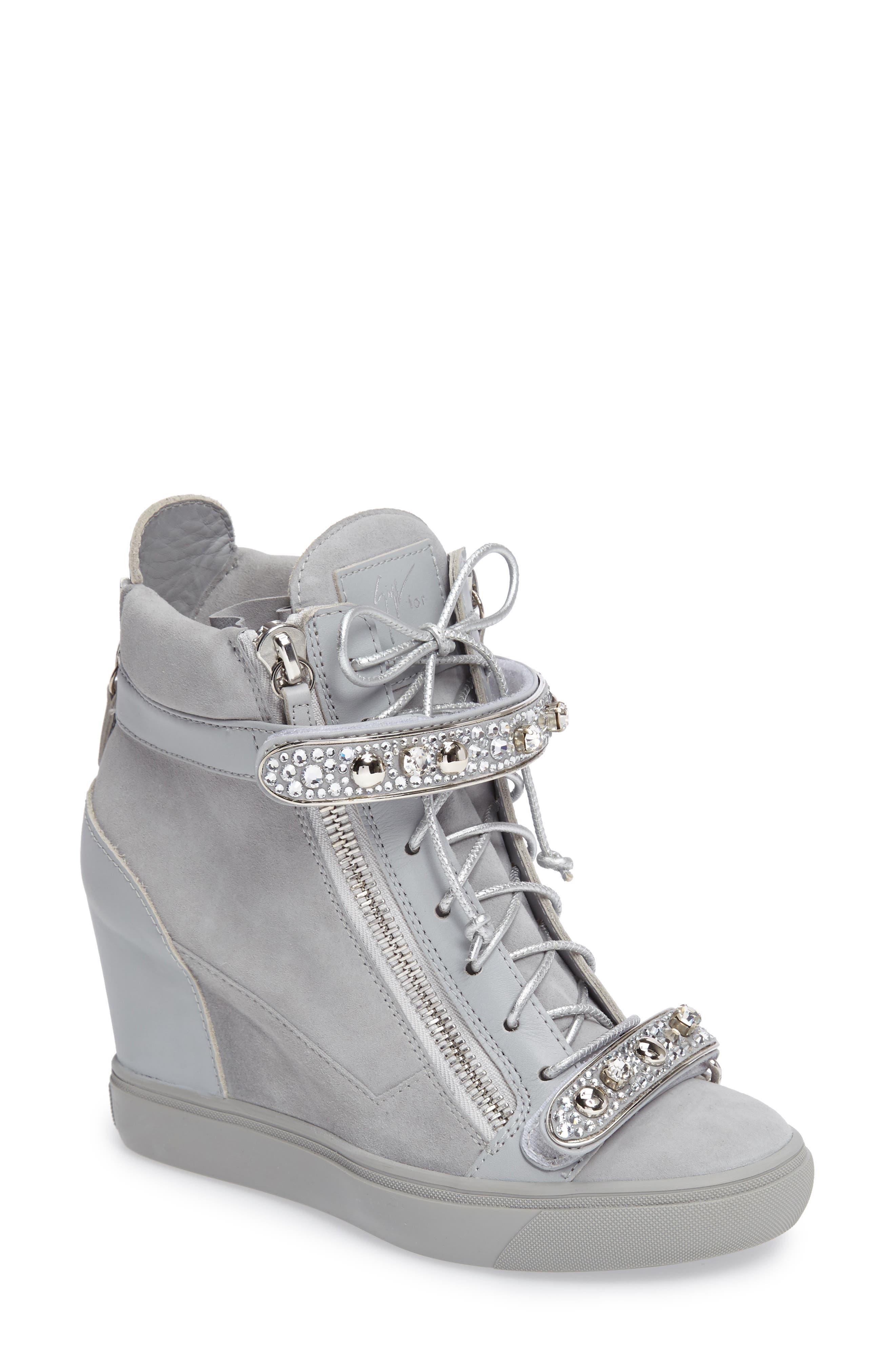 Giuseppe for Jennifer Lopez Tiana Hidden Wedge Sneaker,                             Main thumbnail 1, color,