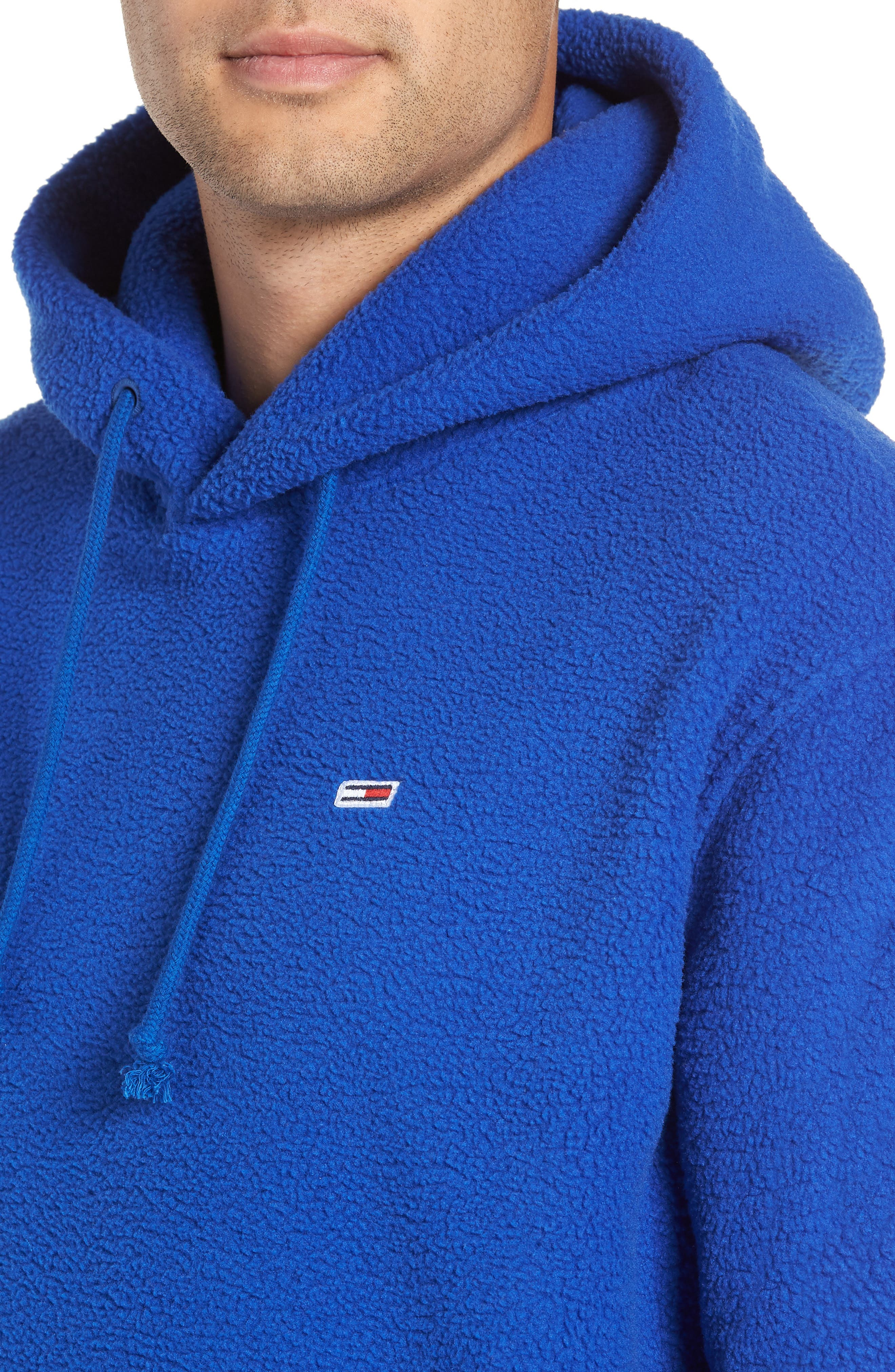 TJM Tommy Classics Polar Hoodie,                             Alternate thumbnail 4, color,                             SURF THE WEB