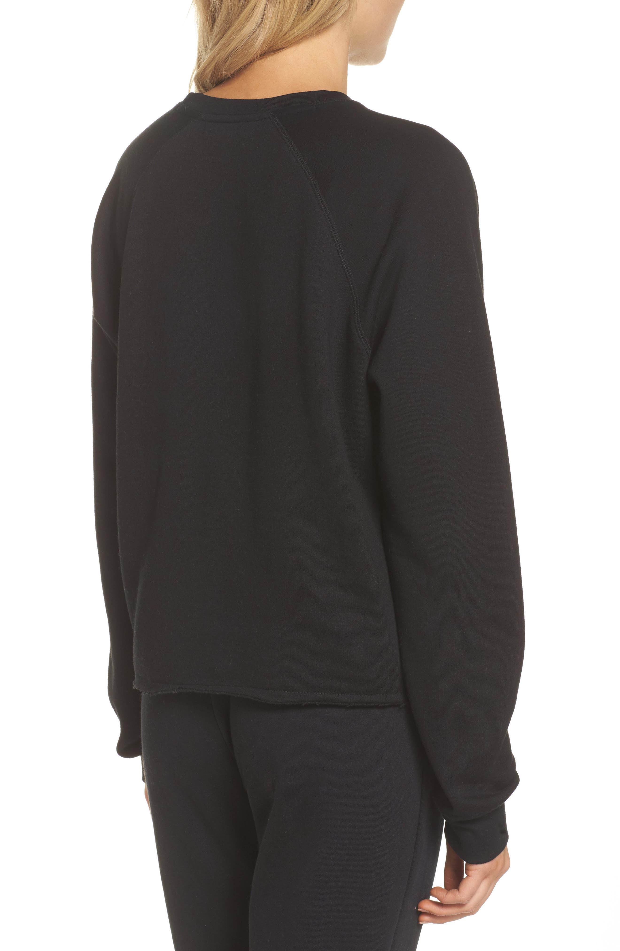 Blonde Raw Hem Sweatshirt,                             Alternate thumbnail 2, color,                             005