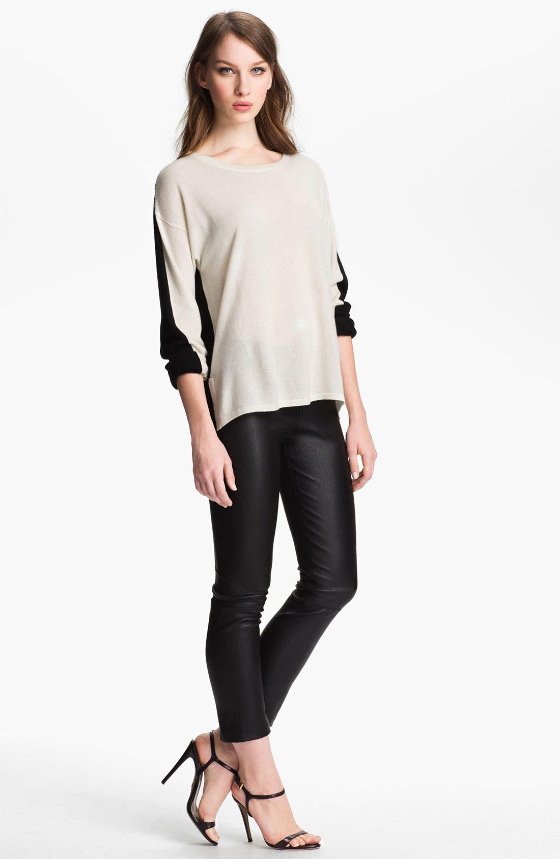 Colorblock Cashmere Sweater,                             Alternate thumbnail 2, color,                             100