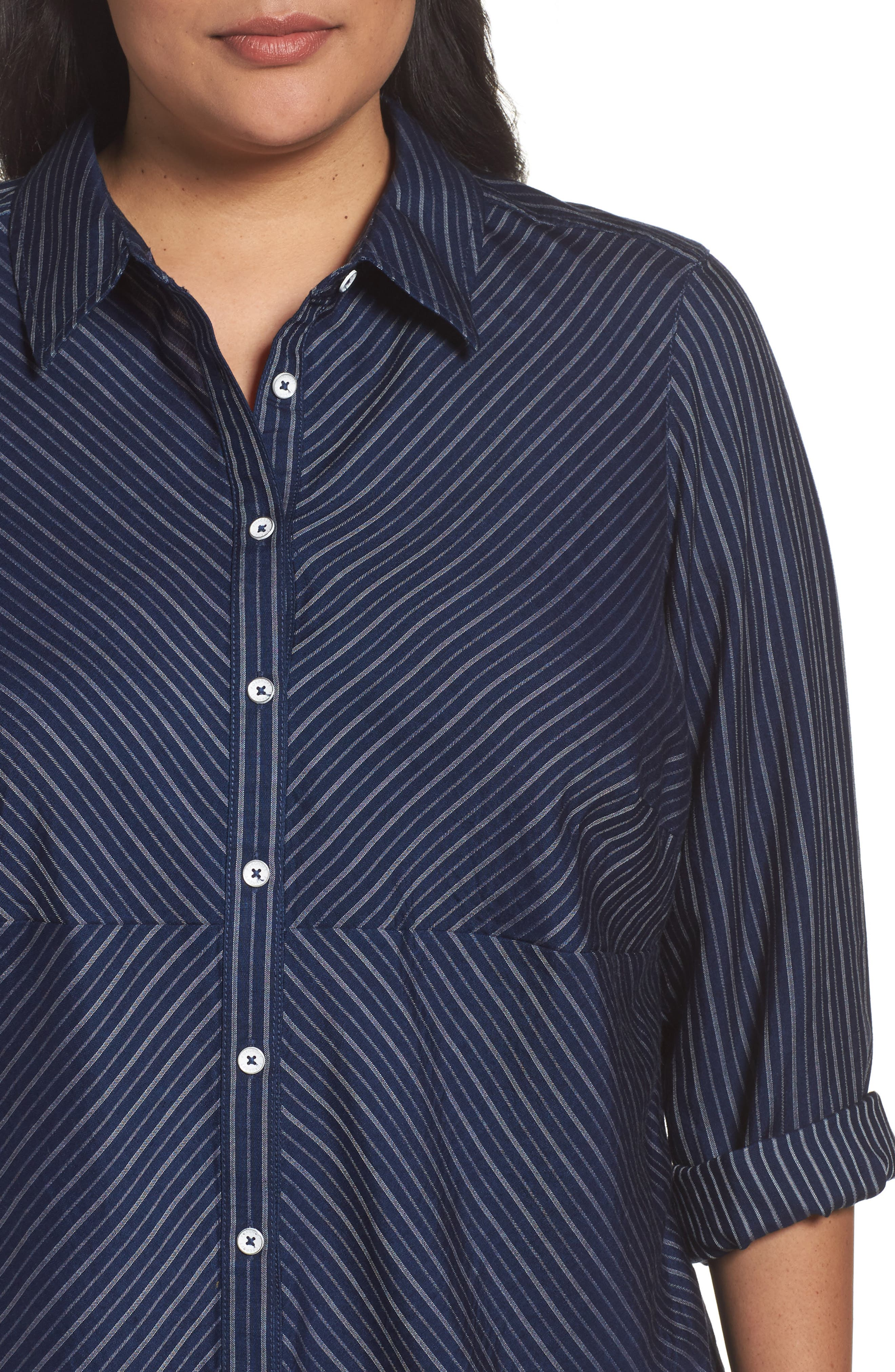 Hazel Pinstripe Shirt,                             Alternate thumbnail 4, color,